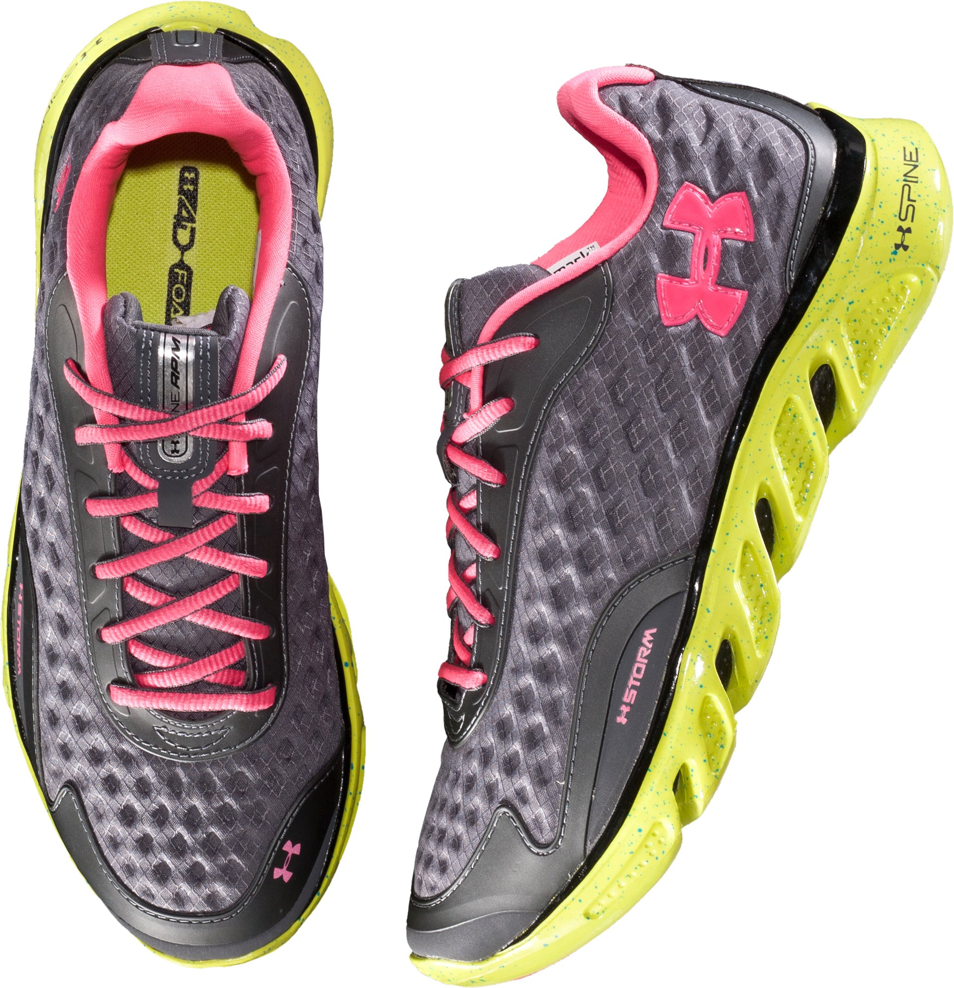 Women's UA Spine RPM Storm Running Shoes, Charcoal