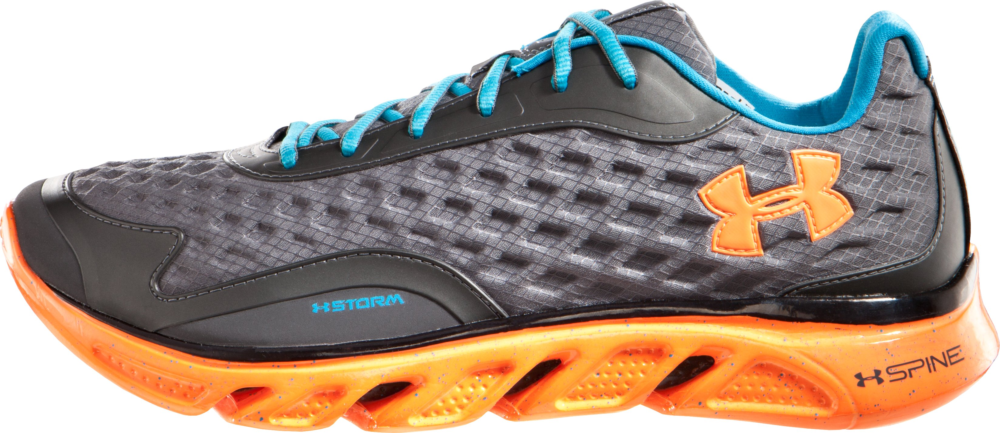 Men's UA Spine™ RPM Storm Running Shoes, Charcoal, zoomed image