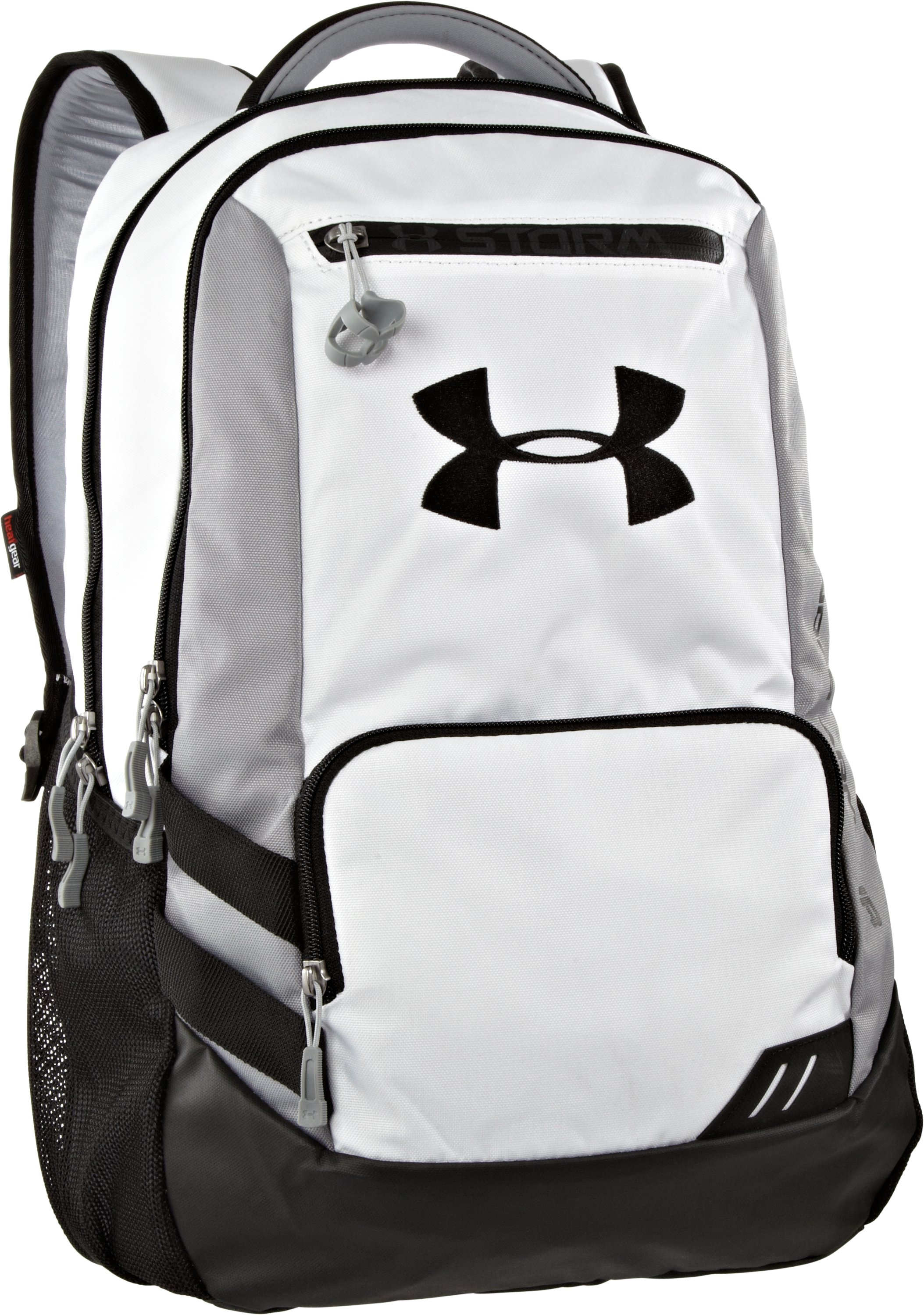 UA Hustle Storm Backpack, White, zoomed image