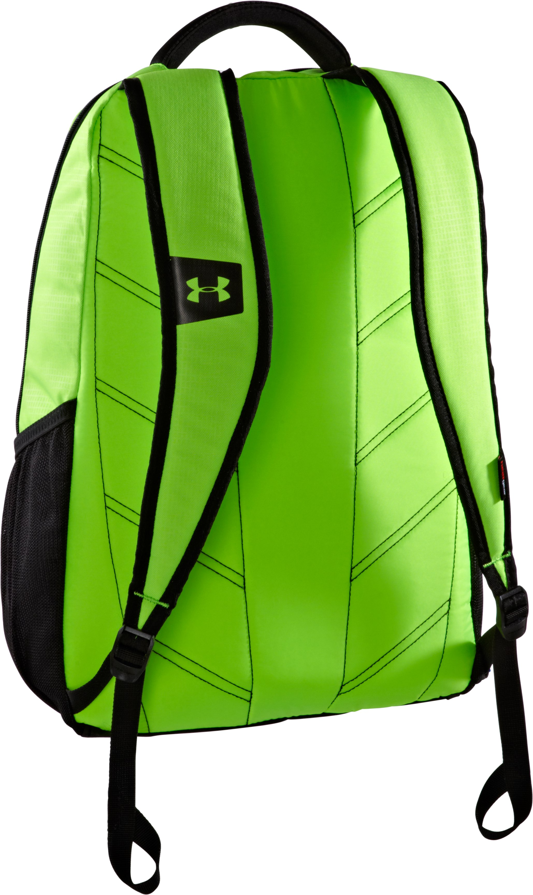 UA Hustle Storm Backpack, HYPER GREEN