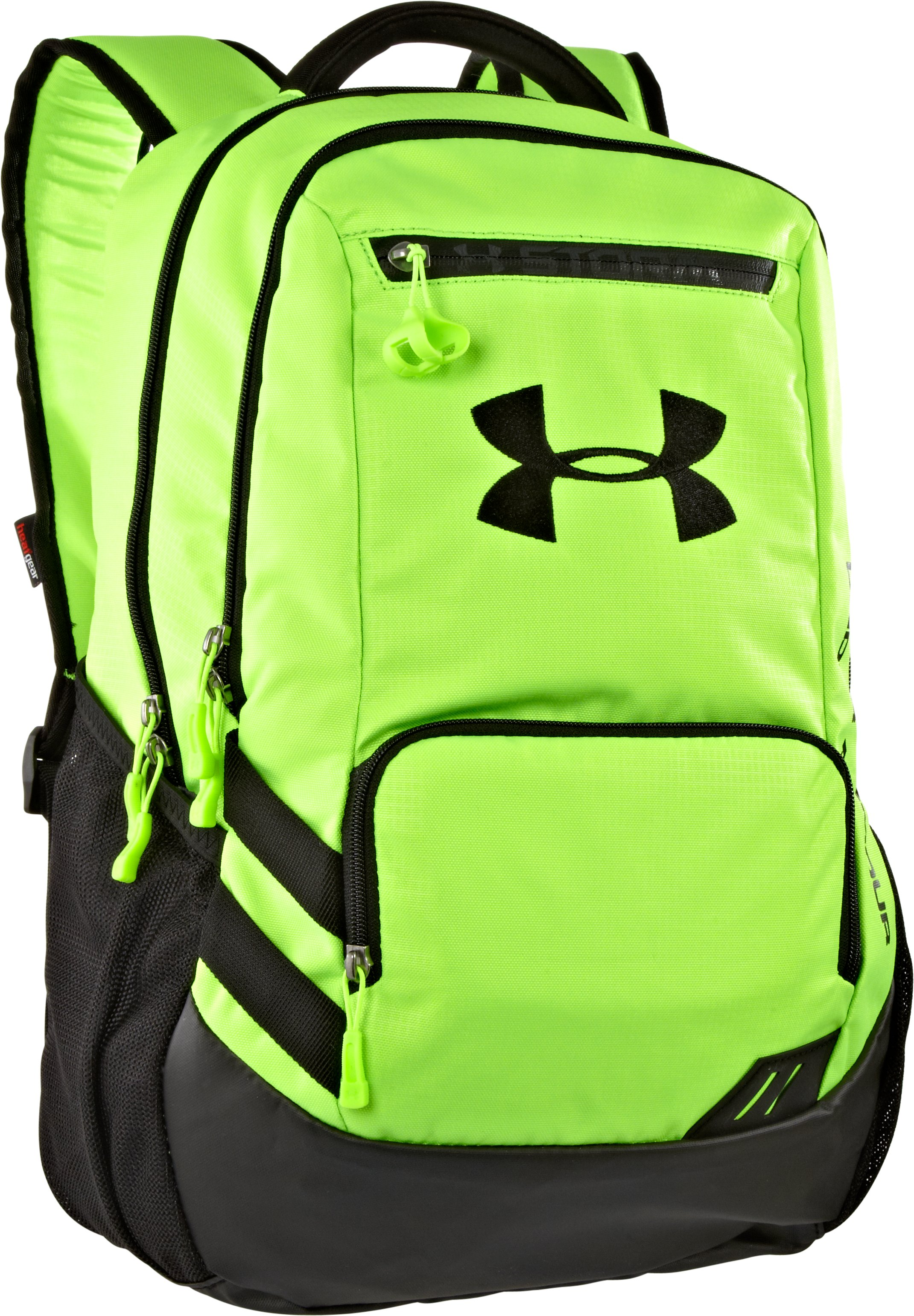 UA Hustle Storm Backpack, HYPER GREEN, zoomed image
