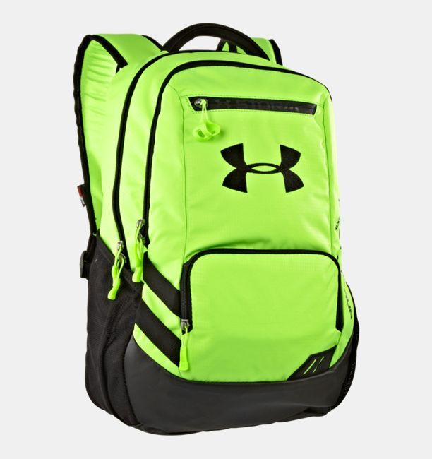 ua hustle storm backpack under armour ca. Black Bedroom Furniture Sets. Home Design Ideas