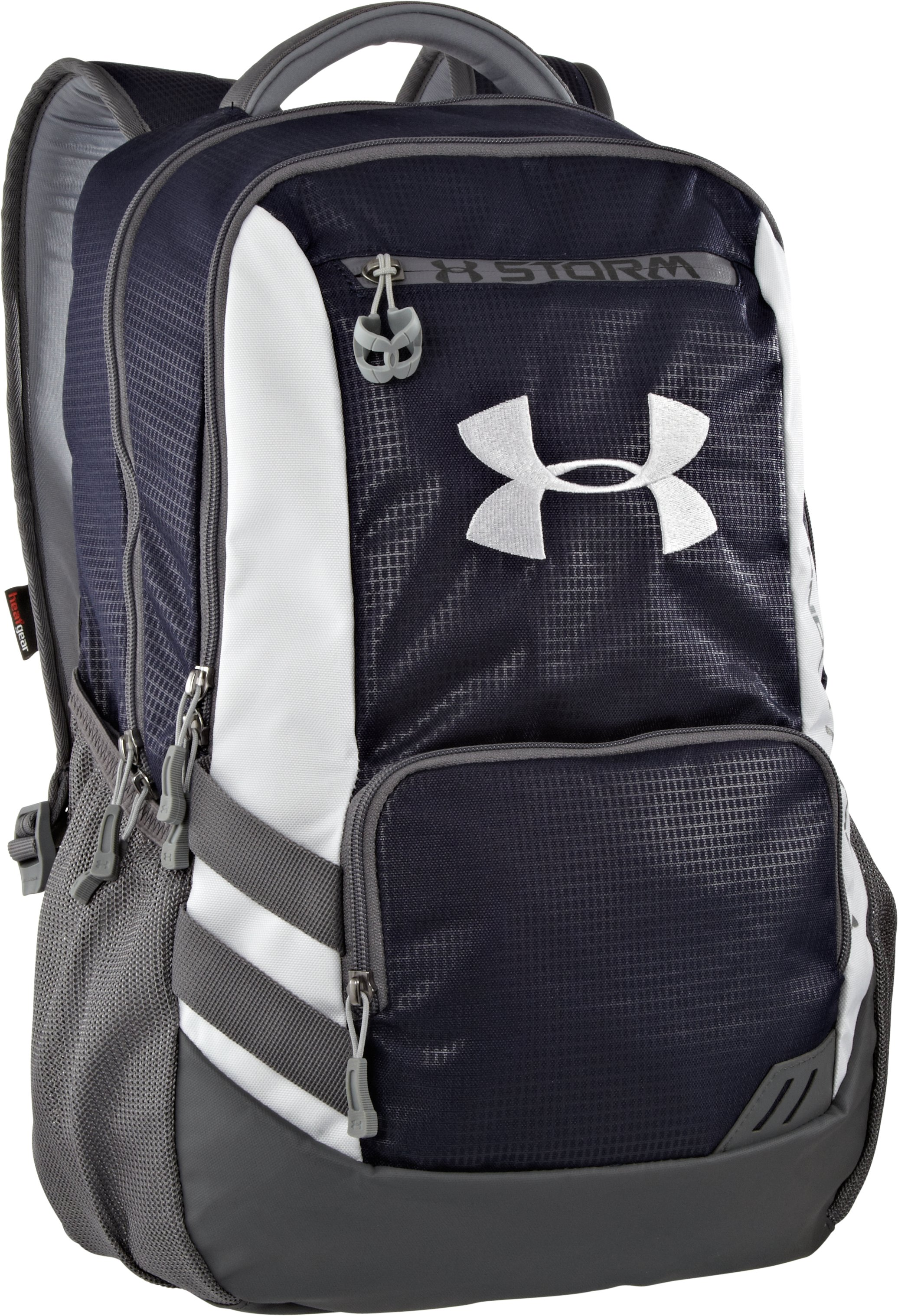UA Hustle Storm Backpack, Midnight Navy, zoomed image