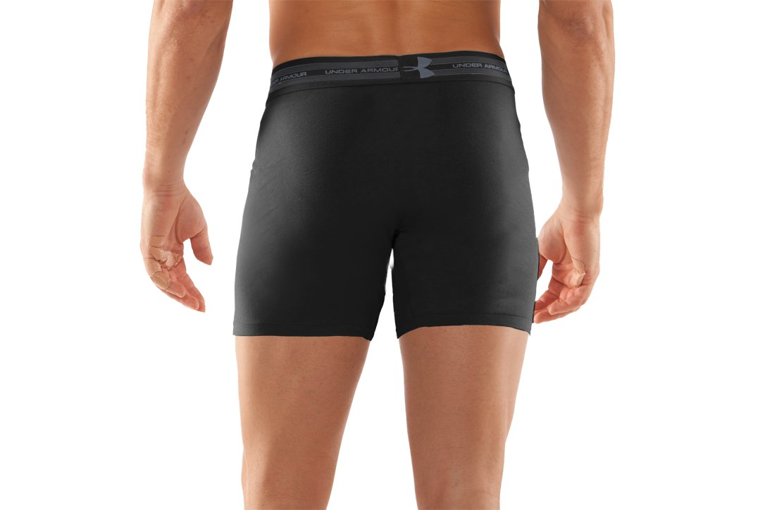 Men's Charged Cotton® Tactical Boxerjock® Boxer Briefs, Black