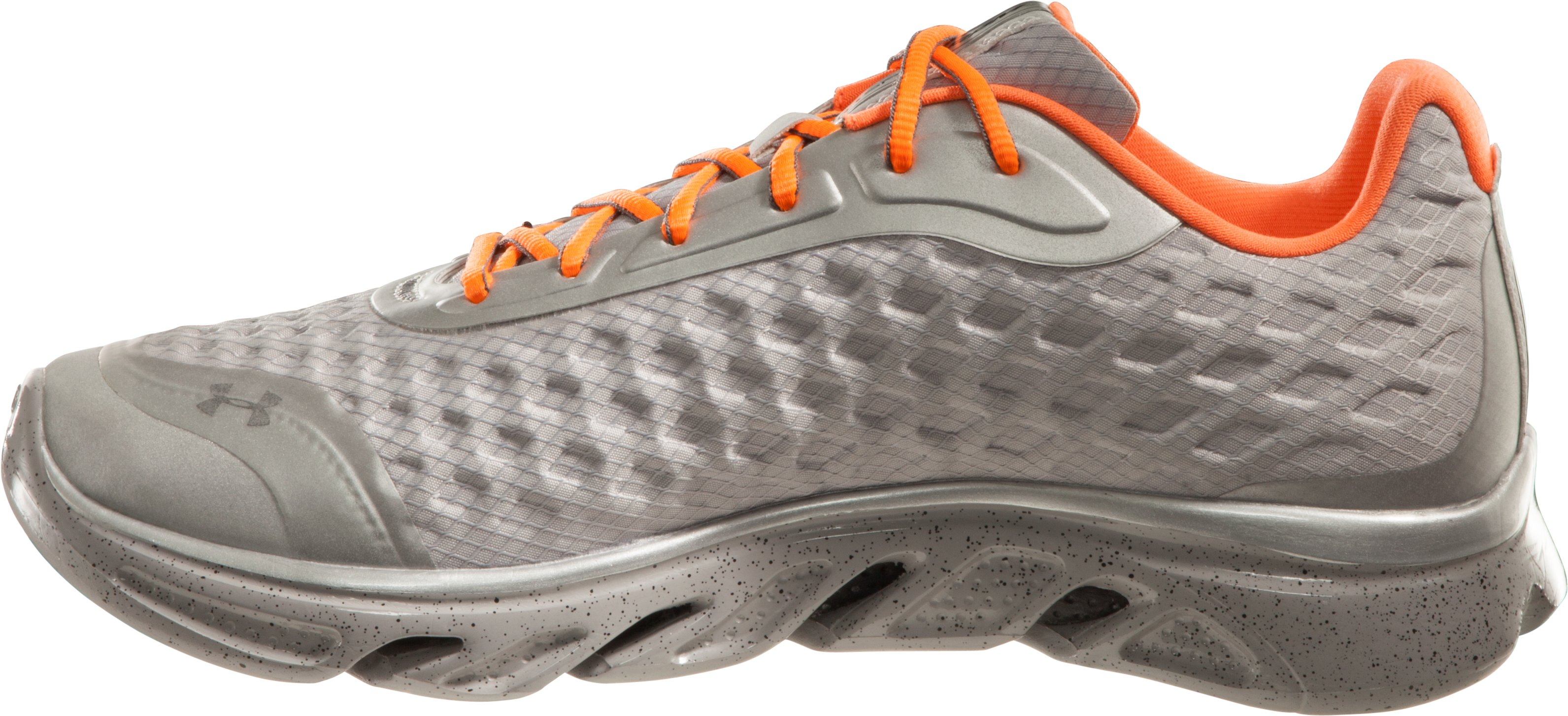 Men's UA Spine Reflective Storm Running Shoes, Metallic Silver,