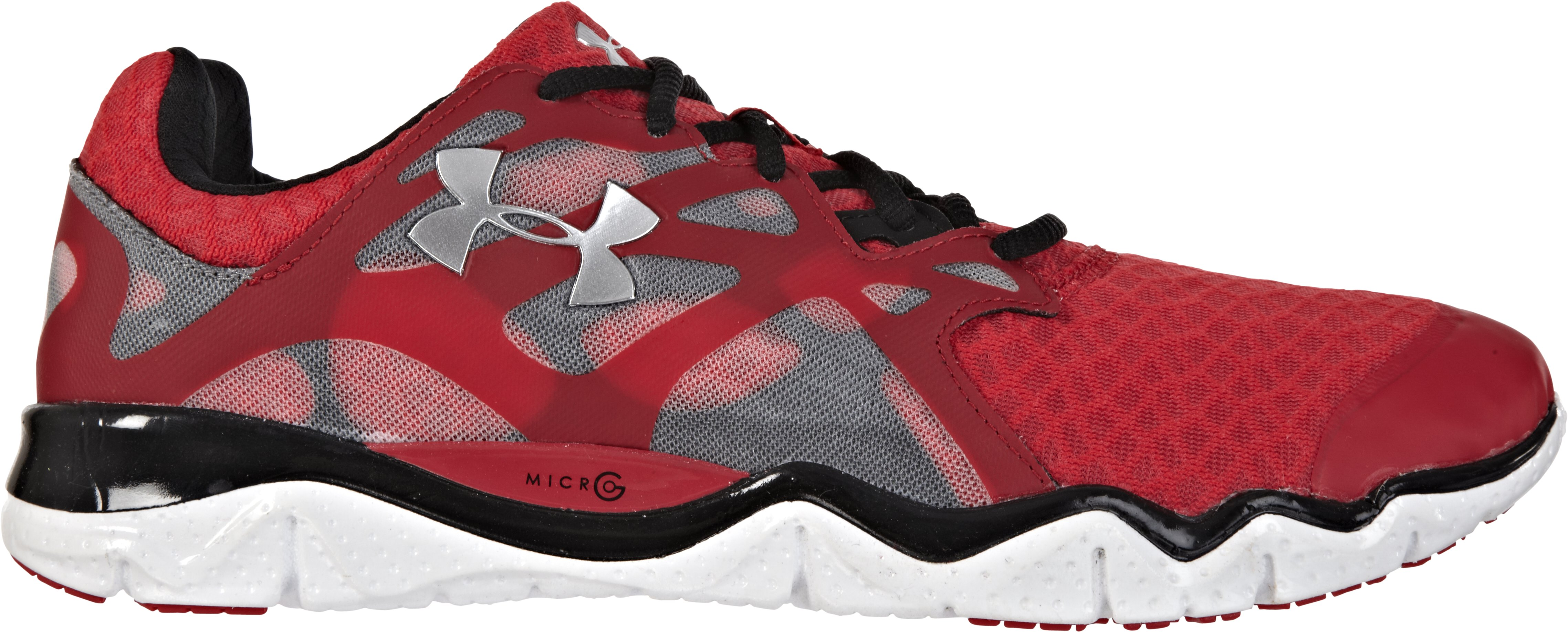 Men's UA Micro G® Monza Running Shoes, Red, zoomed image