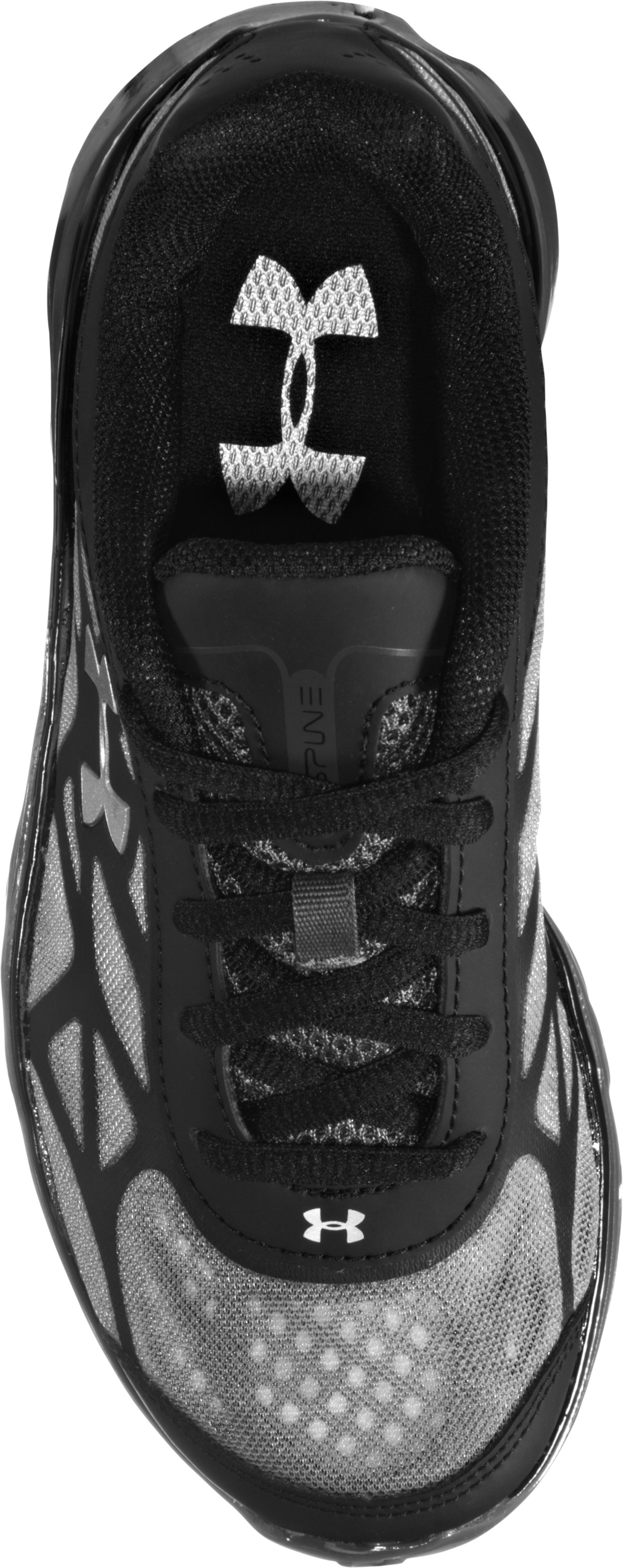 Boys' UA Spine™ Vice Grade School Running Shoes, Black