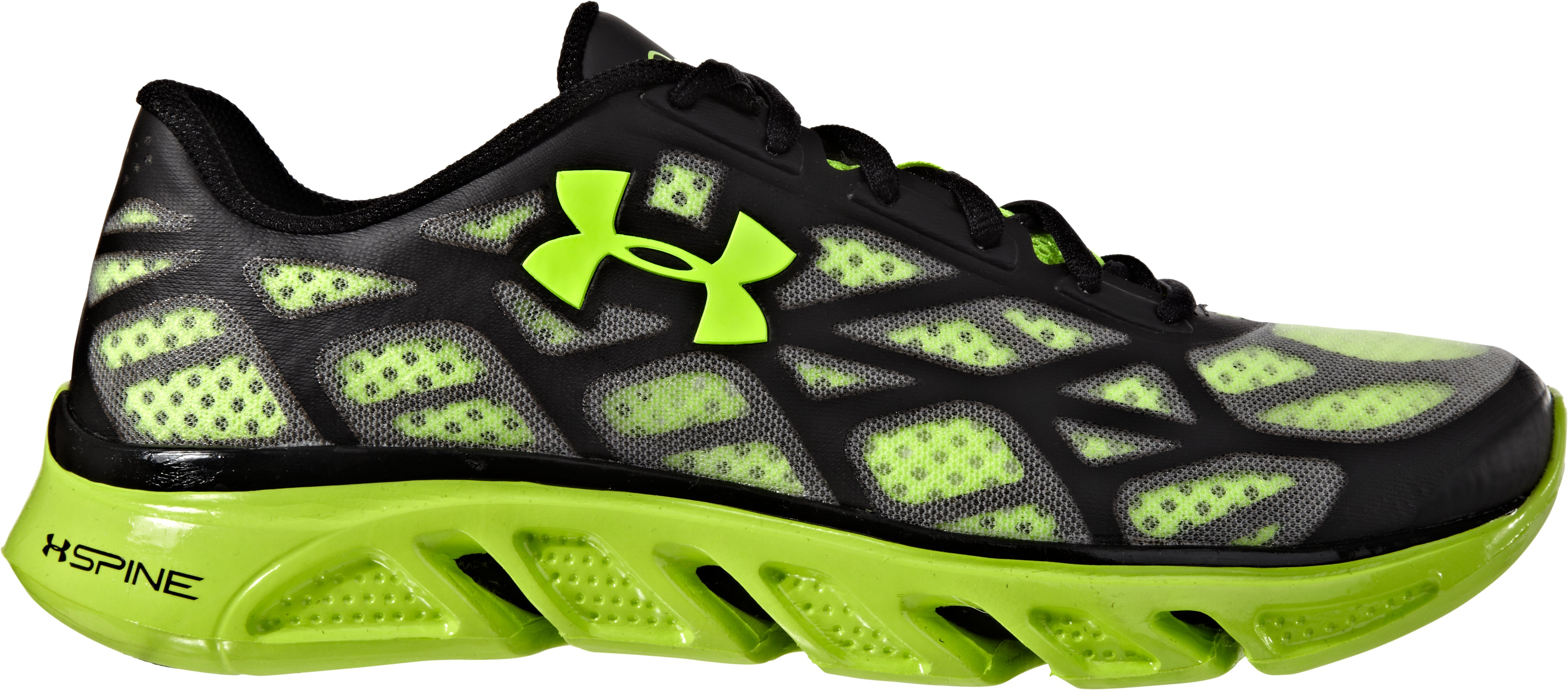 Boys' UA Spine™ Vice Grade School Running Shoes, Bitter, zoomed image