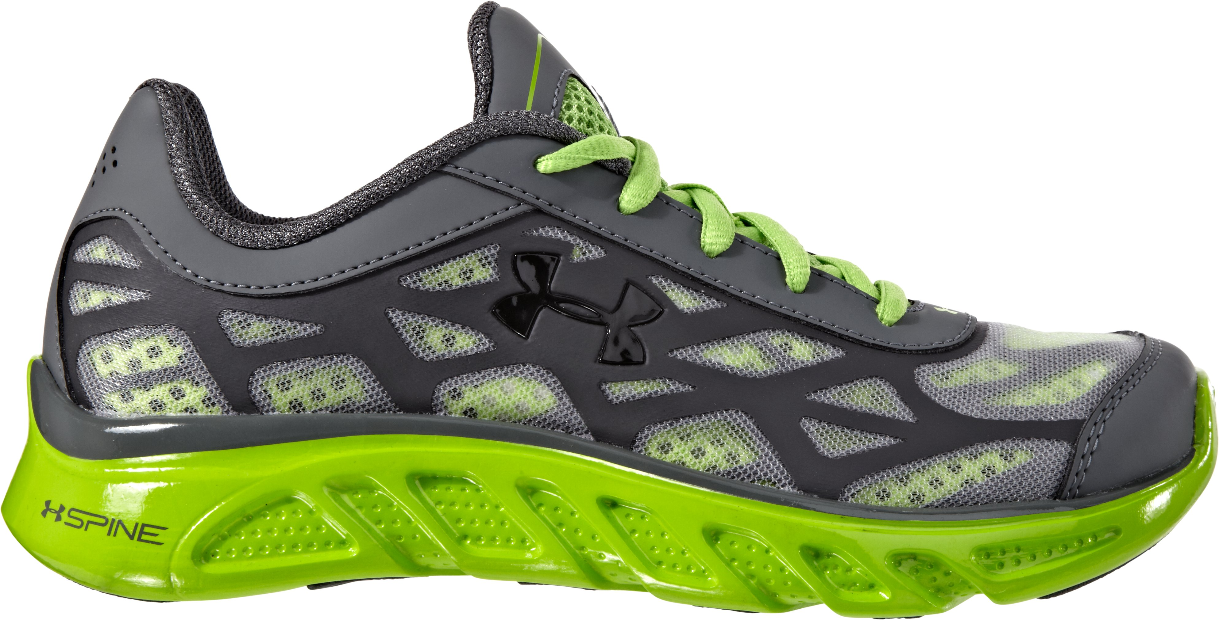Boys' UA Spine™ Vice Pre-School Shoes, Charcoal, zoomed image