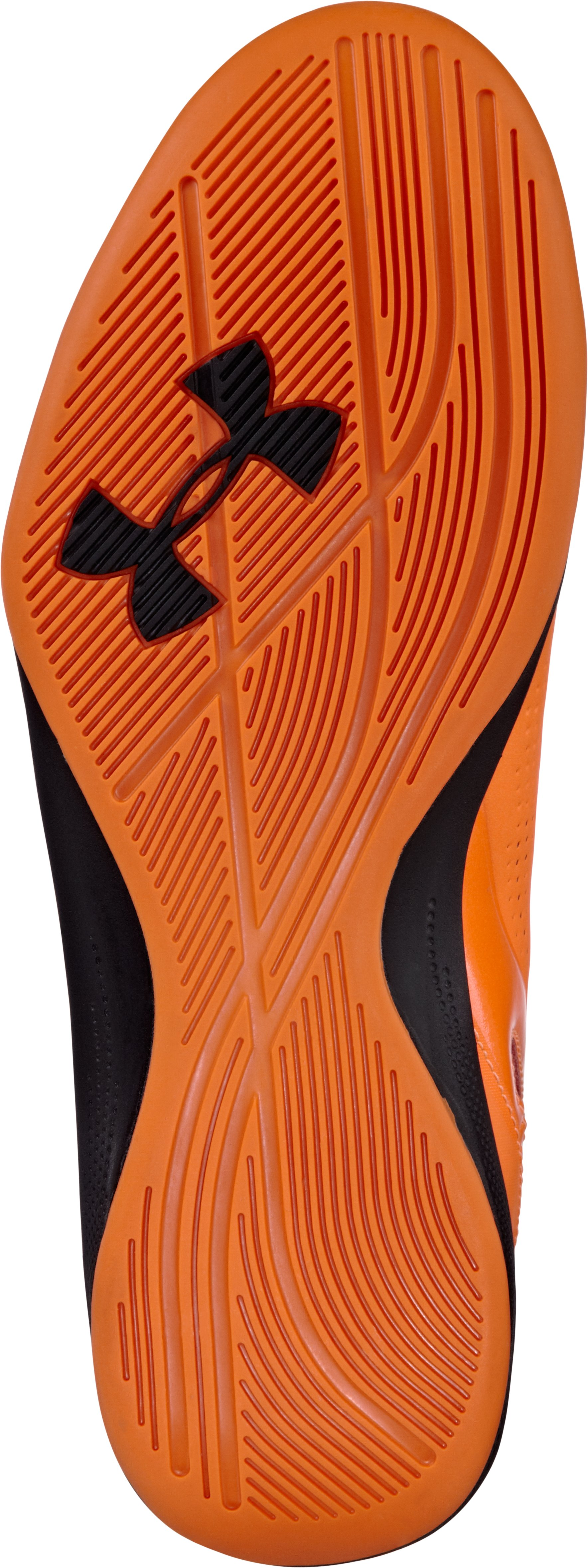 Men's UA Jet 2 Basketball Shoes, ELECTRIC TANGERINE
