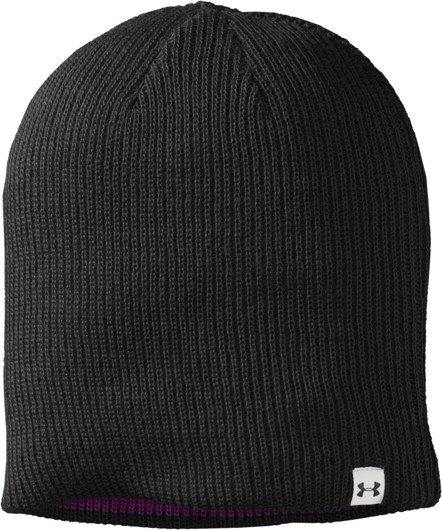 Women's UA Classic Reversible Beanie, Black , zoomed image