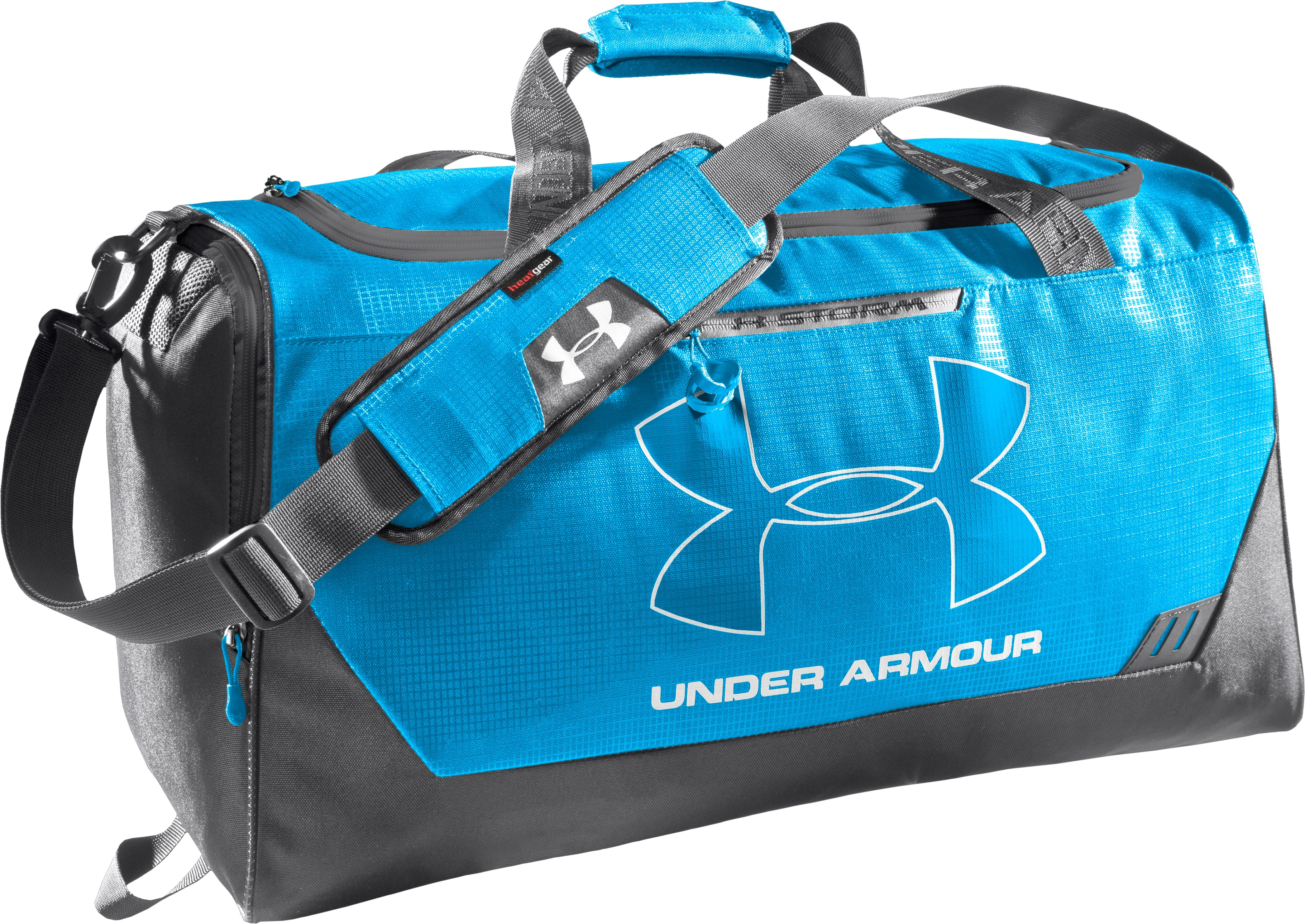 UA Hustle Storm MD Duffle Bag, ELECTRIC BLUE, undefined