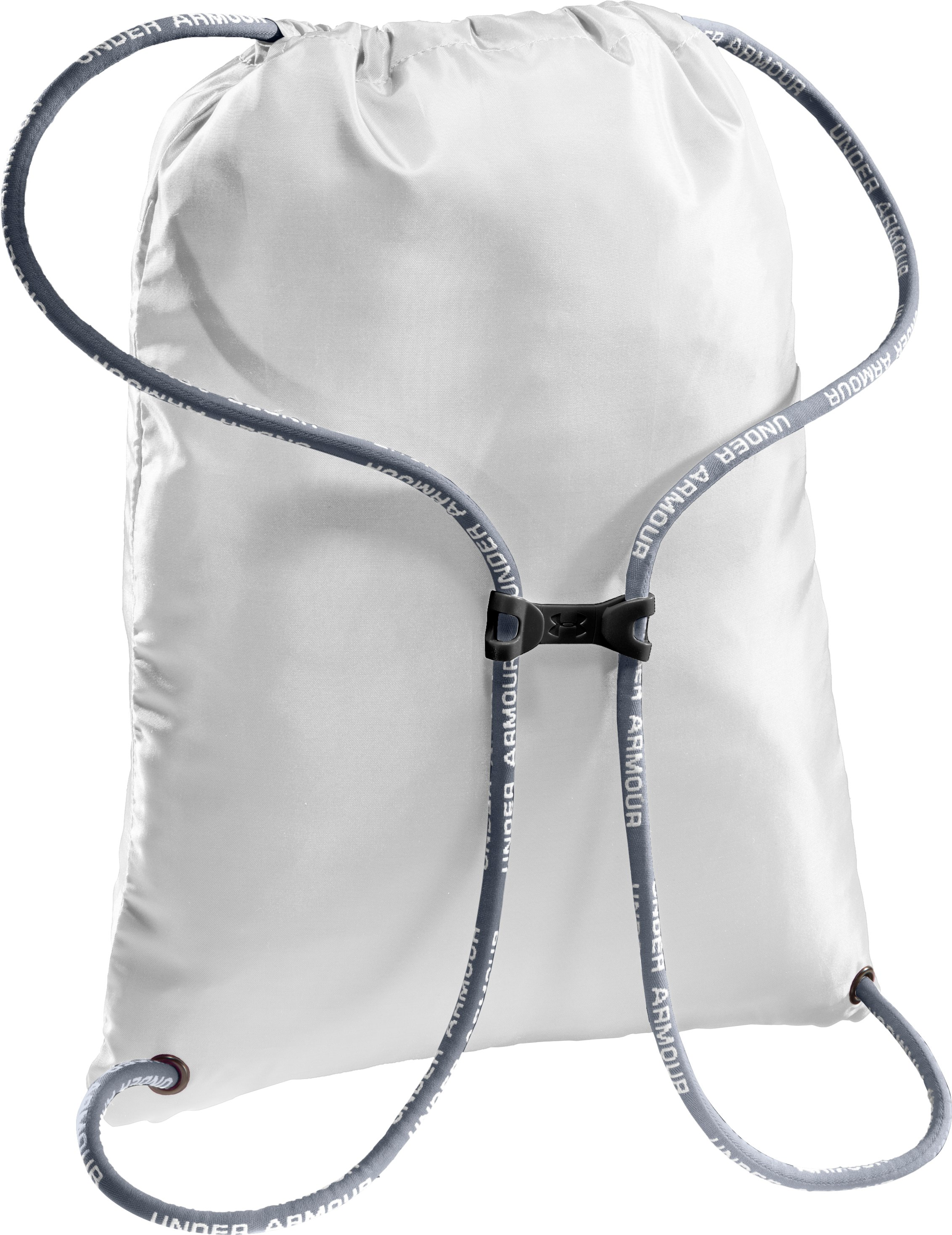 UA Hustle Sackpack, White