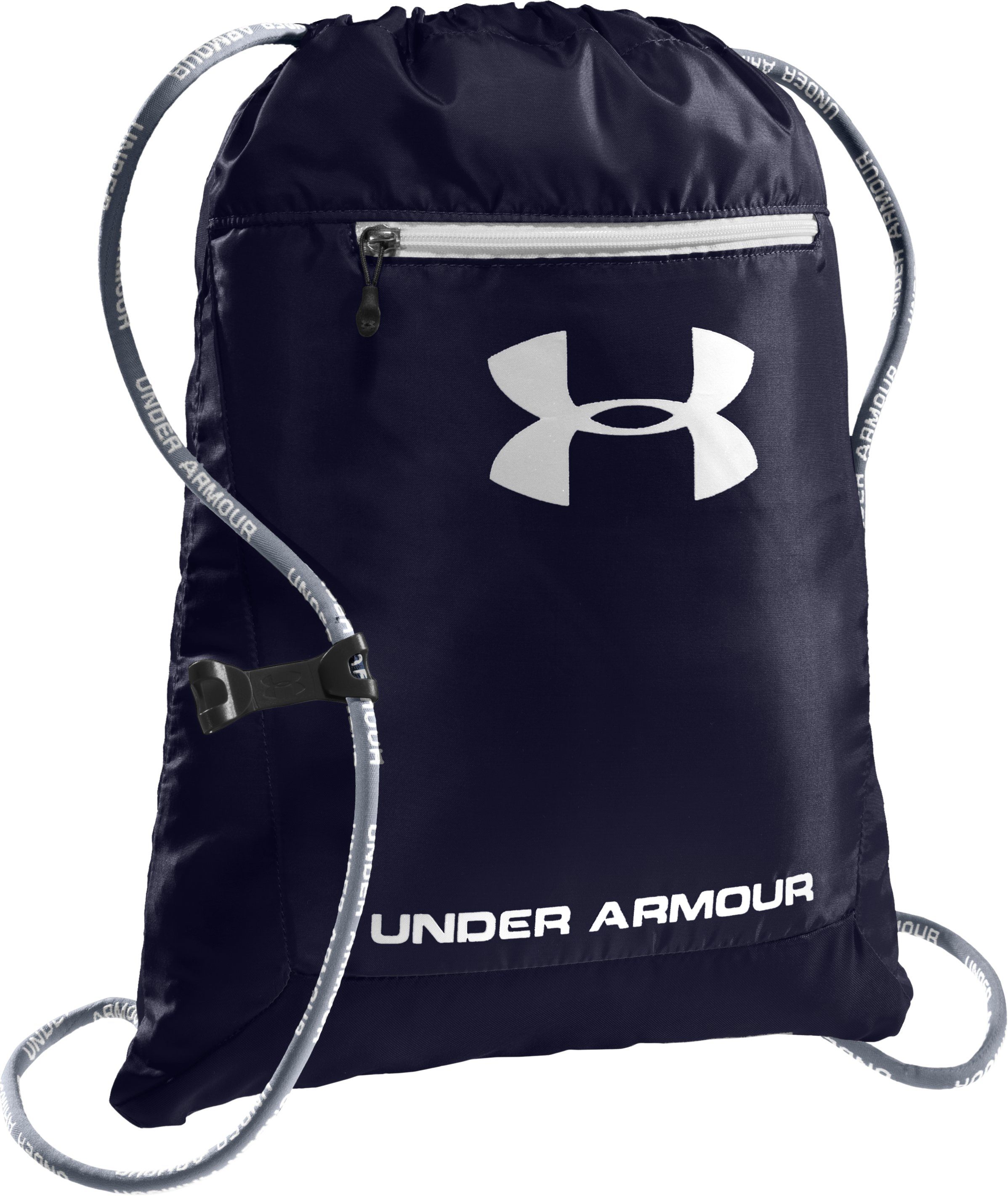 UA Hustle Sackpack, Midnight Navy, zoomed image