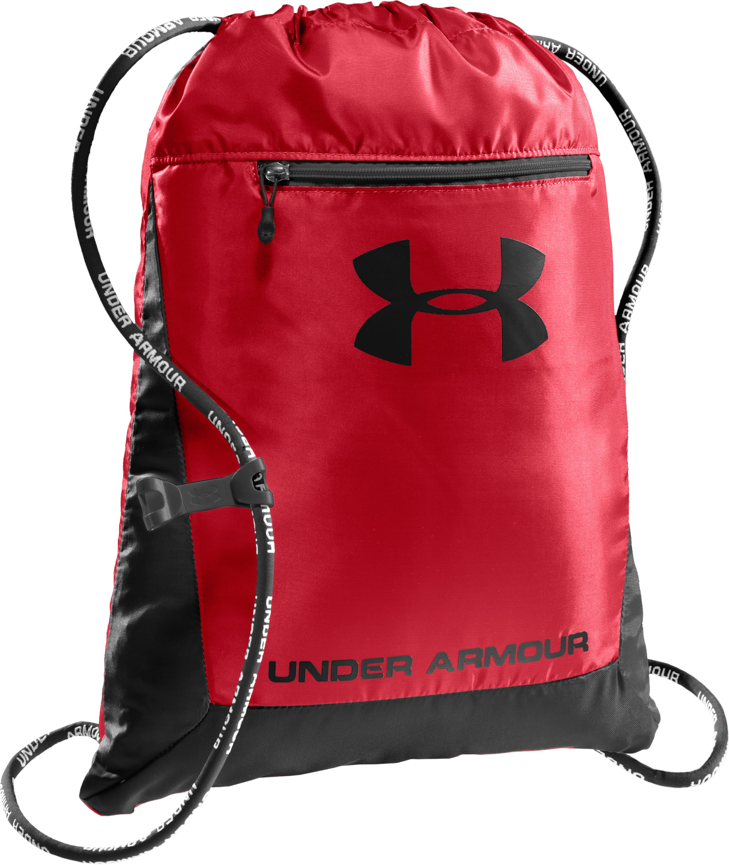 UA Hustle Sackpack, Red, zoomed image