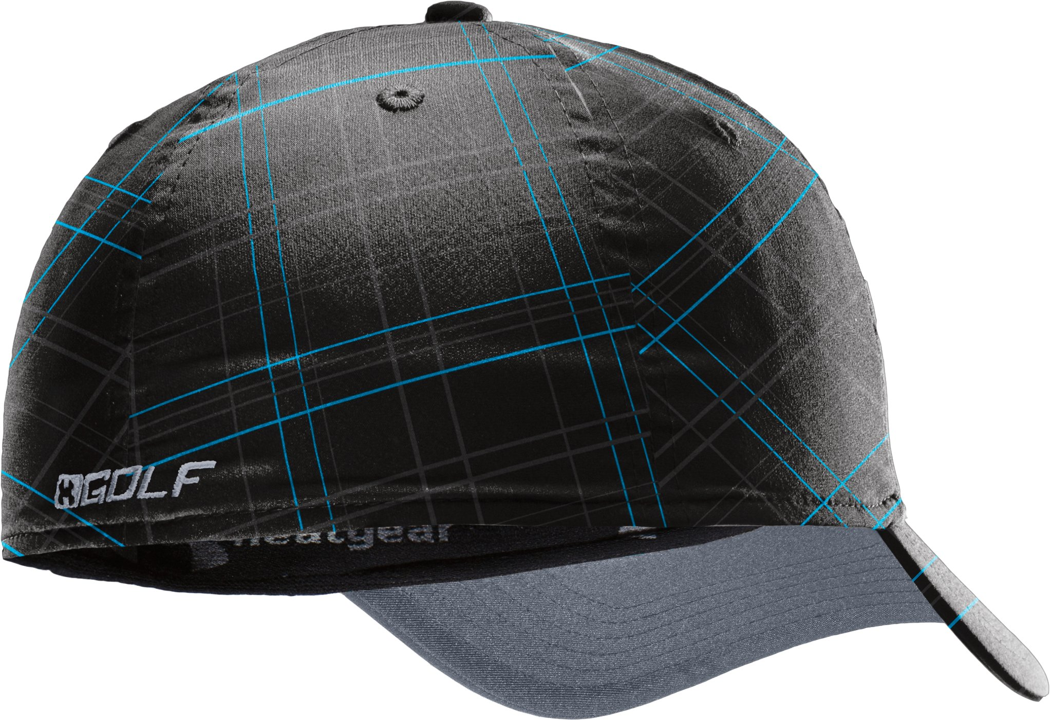 Men's UA Dance Floor Plaid Golf Cap, Black , undefined