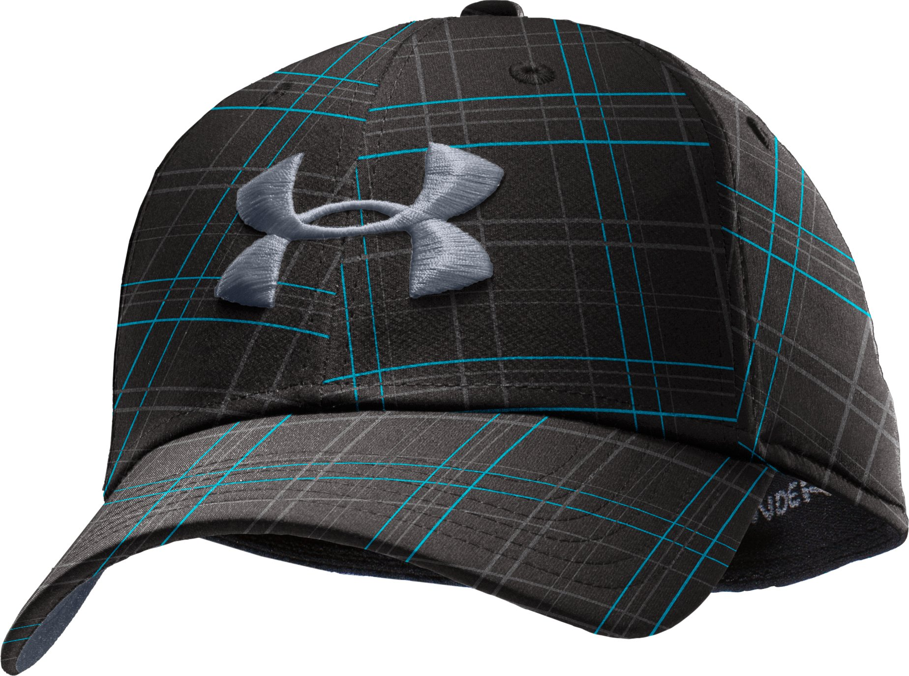 Men's UA Dance Floor Plaid Golf Cap, Black