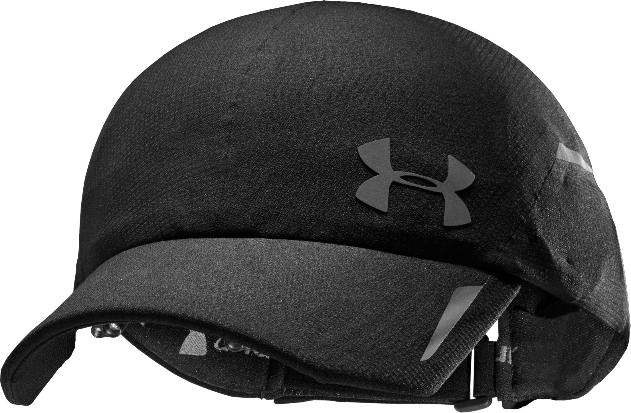 Women's UA Qualifier Lighted Hat, Black , zoomed image