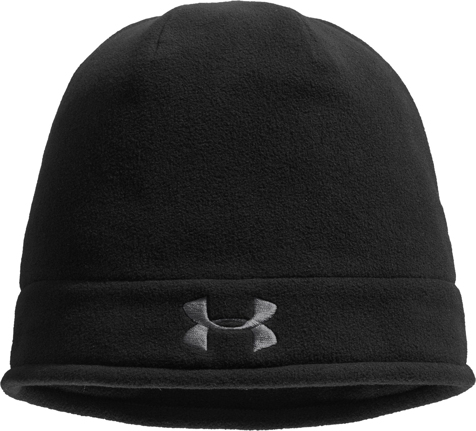 Men's ColdGear® Infrared Fleece Storm Beanie, Black , zoomed image