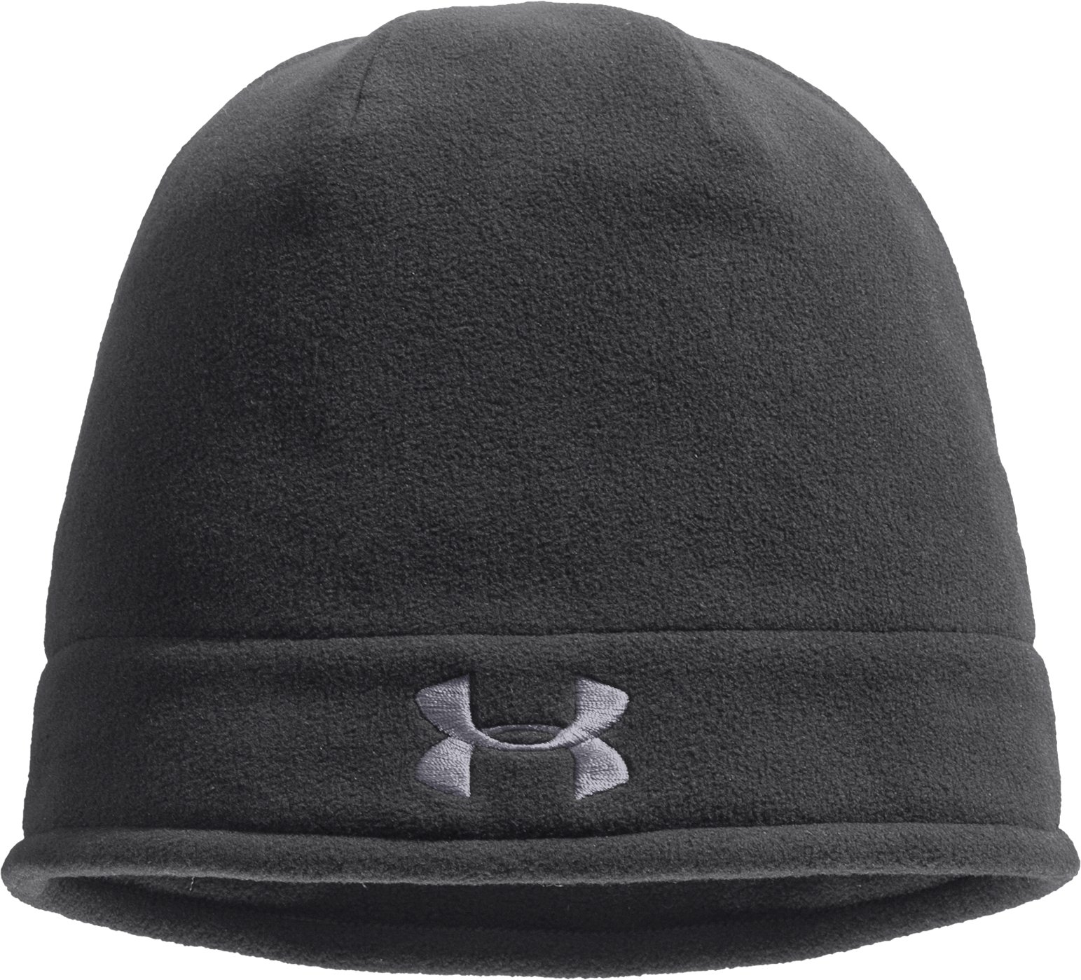Men's ColdGear® Infrared Fleece Storm Beanie, Graphite, zoomed image