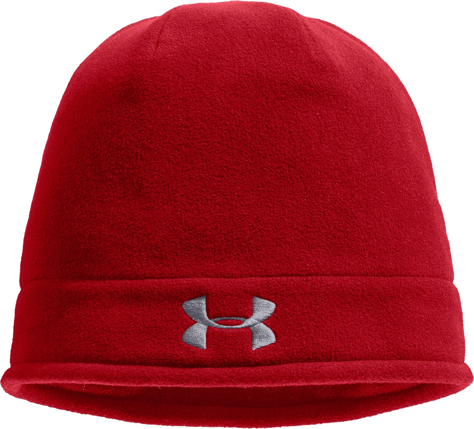 Men's ColdGear® Infrared Fleece Storm Beanie, Red