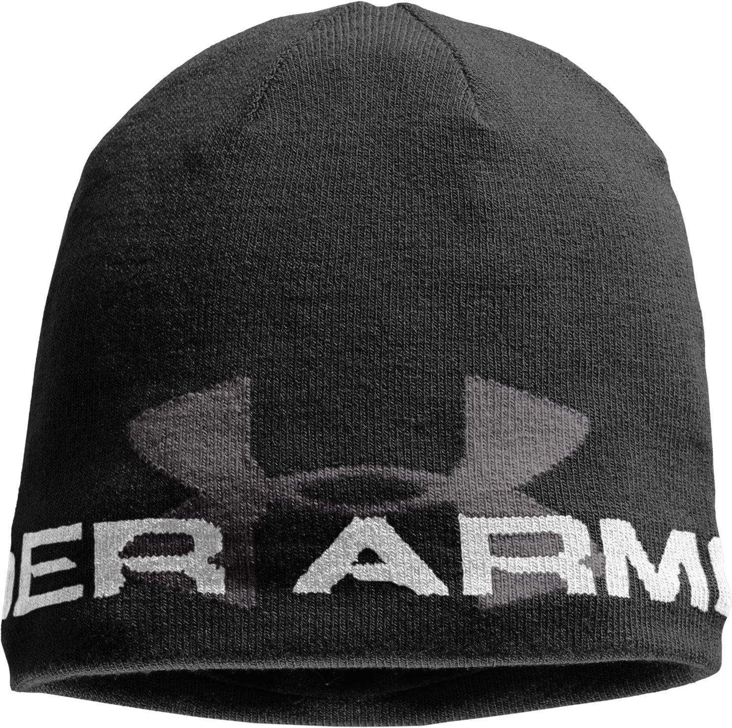 Men's ColdGear® Infrared Billboard Beanie, Black , zoomed image