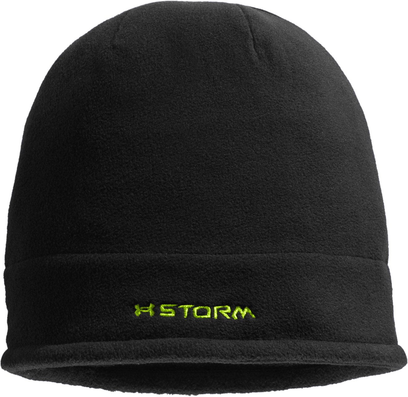 Boys' ColdGear® Infrared Fleece Storm Beanie, Black , undefined