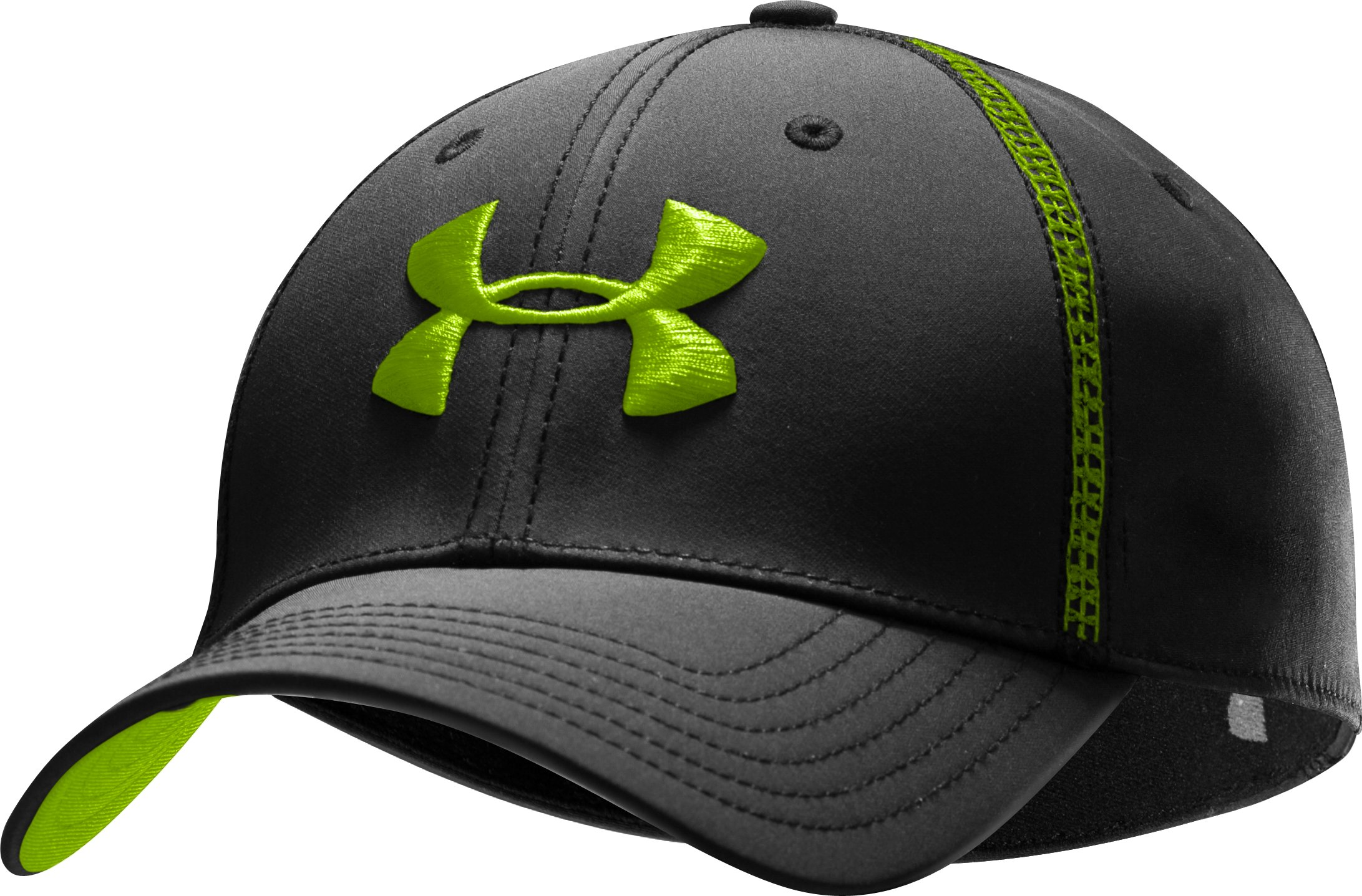 Men's UA Huddle Stretch Fit Cap, Black , zoomed image