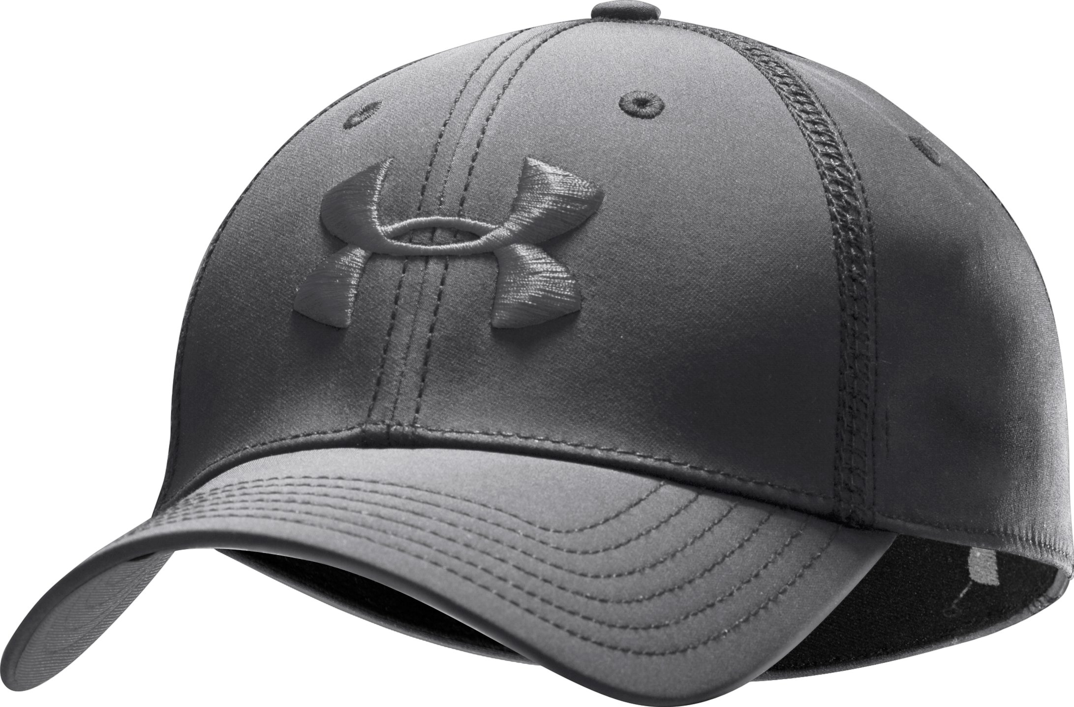 Men's UA Huddle Stretch Fit Cap, Graphite, zoomed image