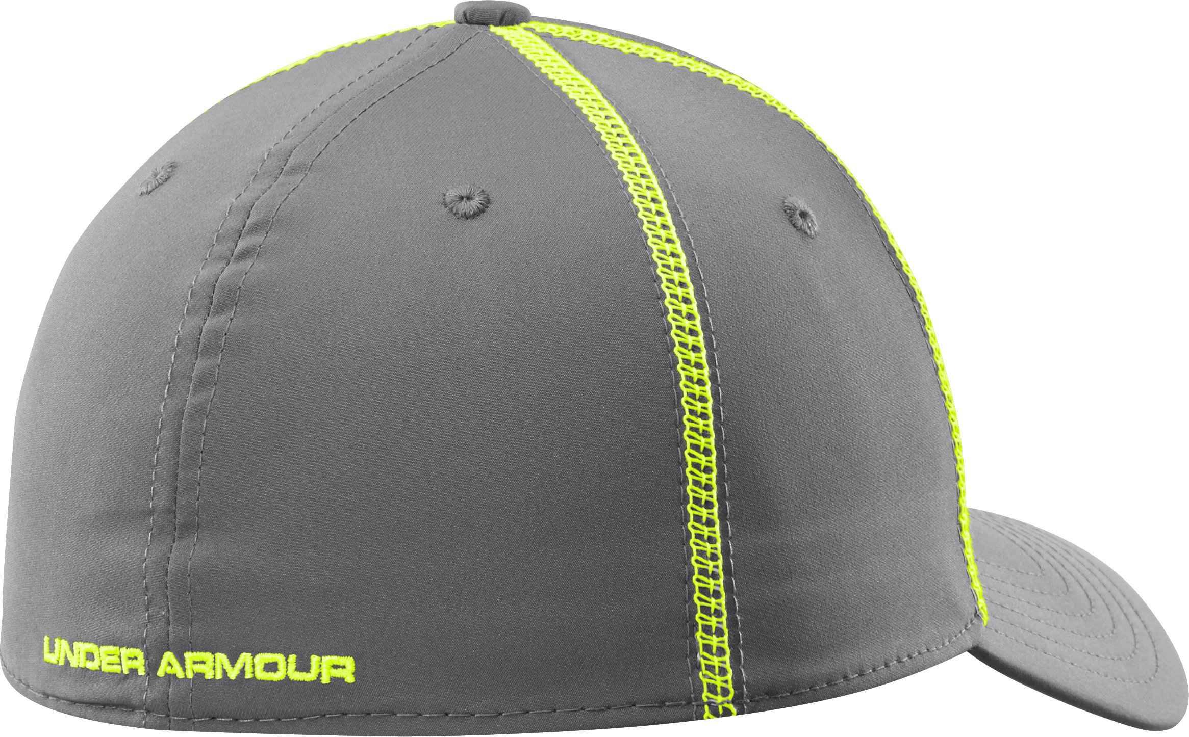 Men's UA Huddle Stretch Fit Cap, Graphite, undefined