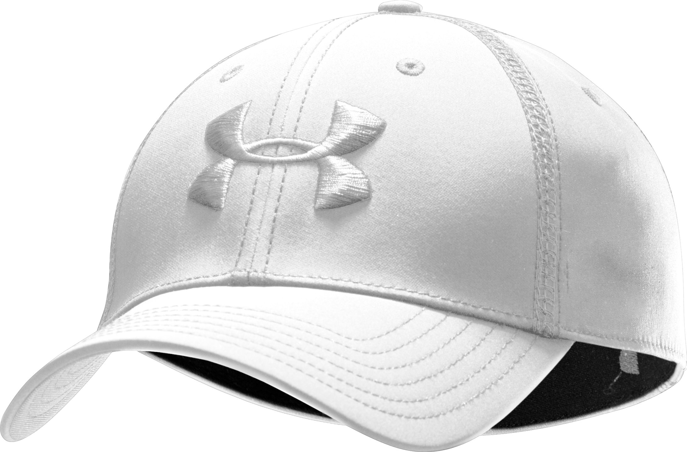 Men's UA Huddle Stretch Fit Cap, White, zoomed image