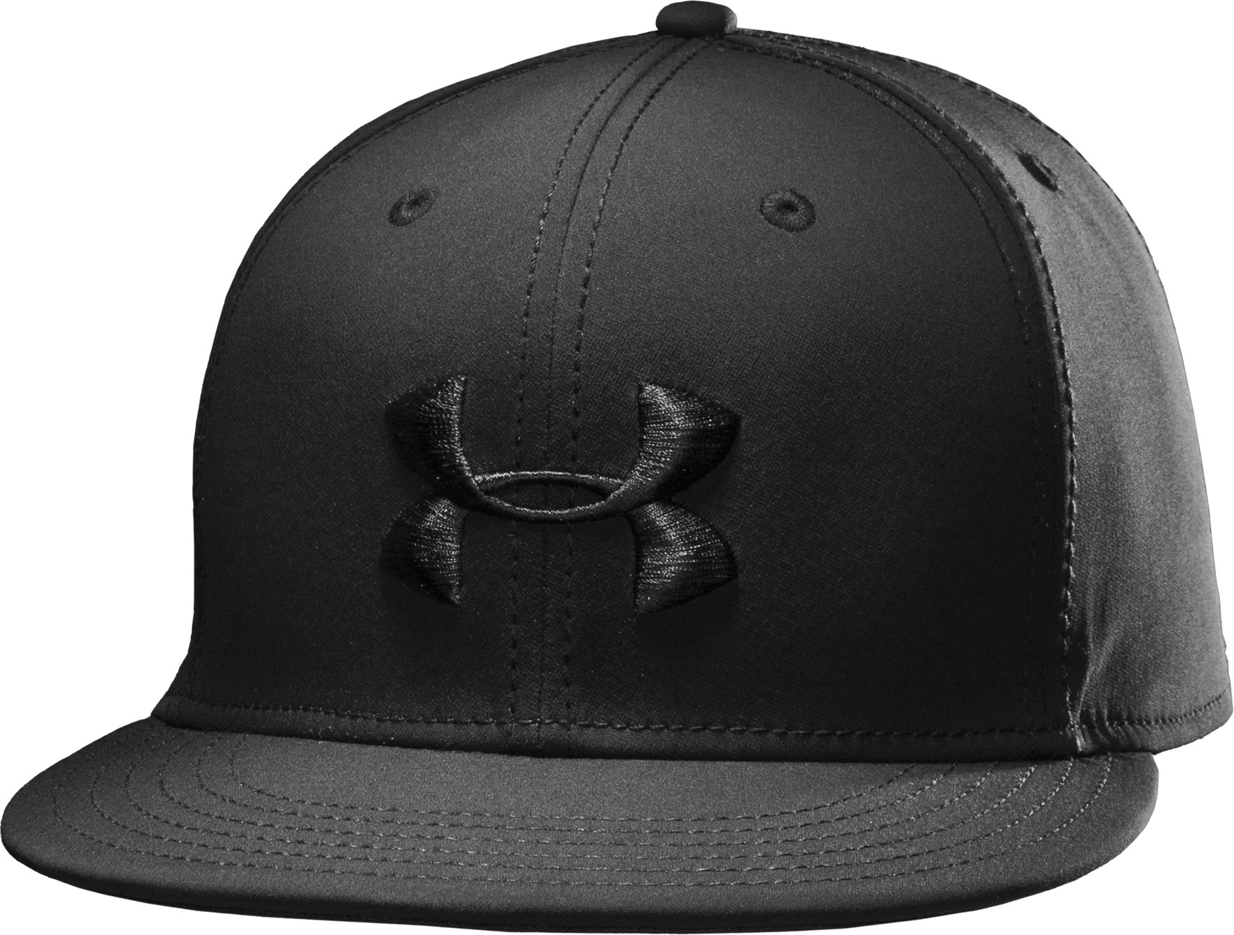 Men's UA Huddle II Flat Brim Cap, Black , zoomed image
