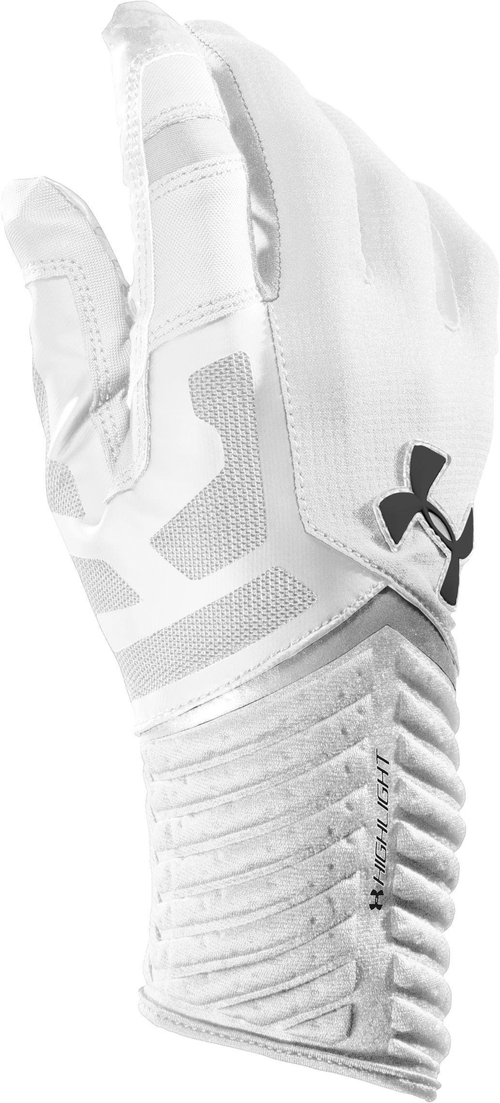Men's UA Highlight Football Gloves, White, undefined