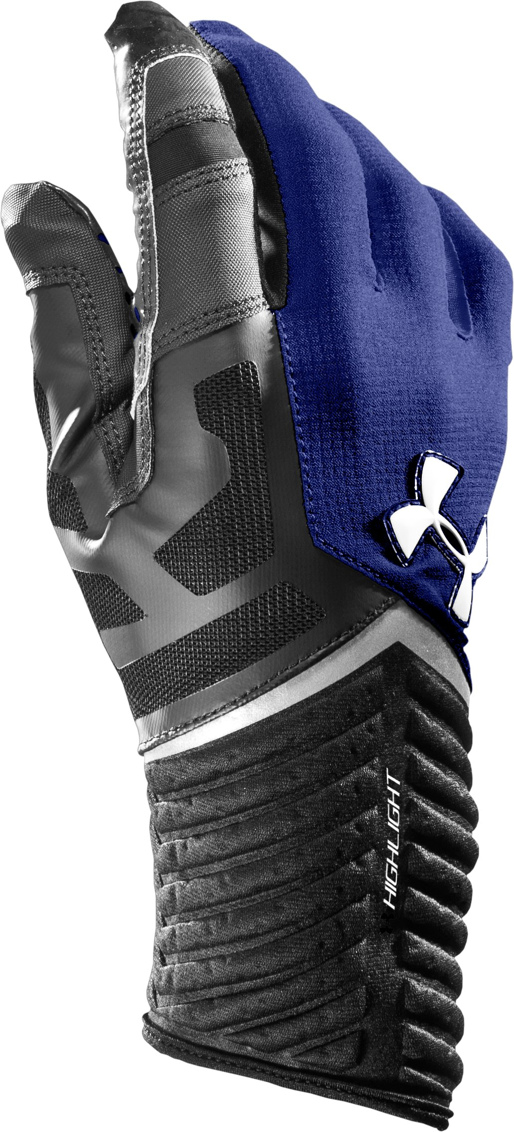 Men's UA Highlight Football Gloves, Royal, zoomed image