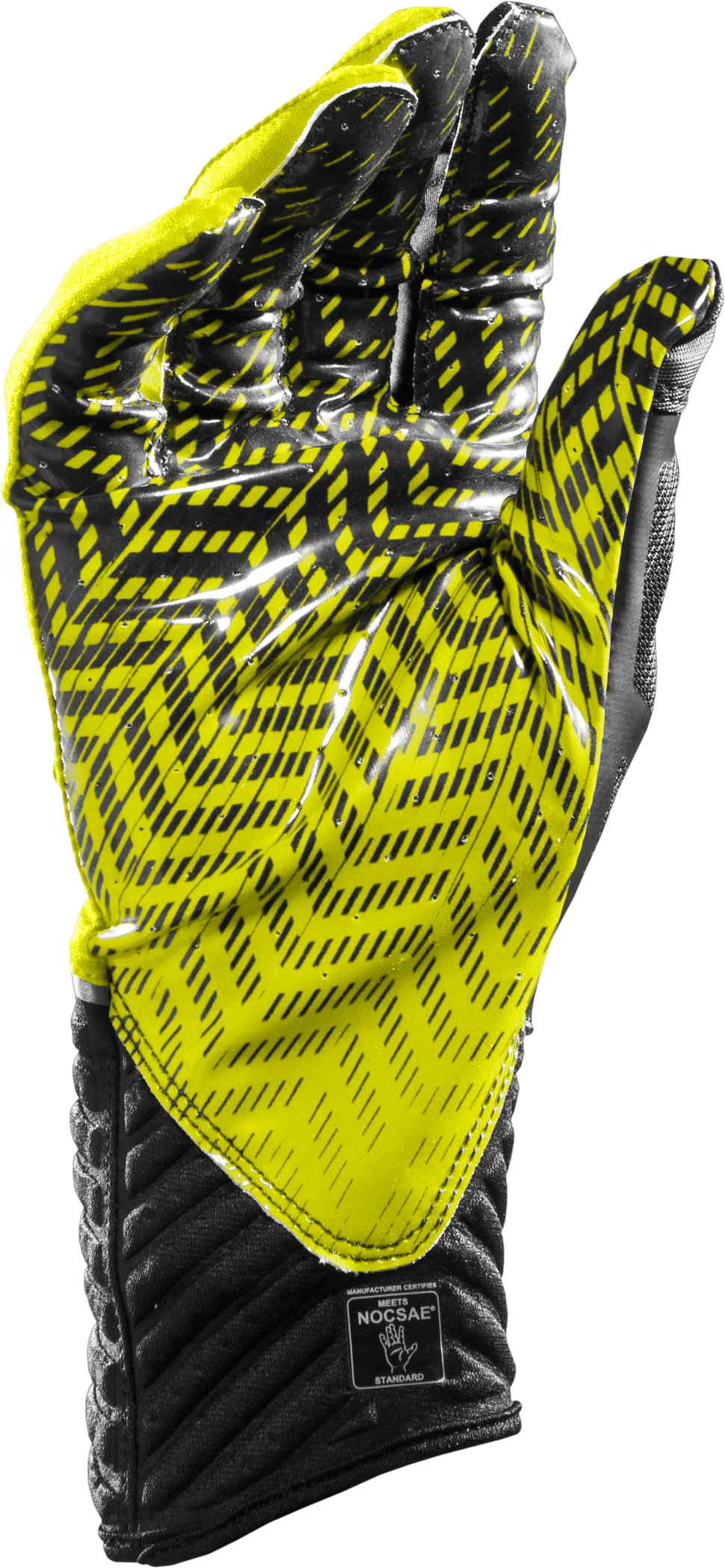 Men's UA Highlight Football Gloves, High-Vis Yellow
