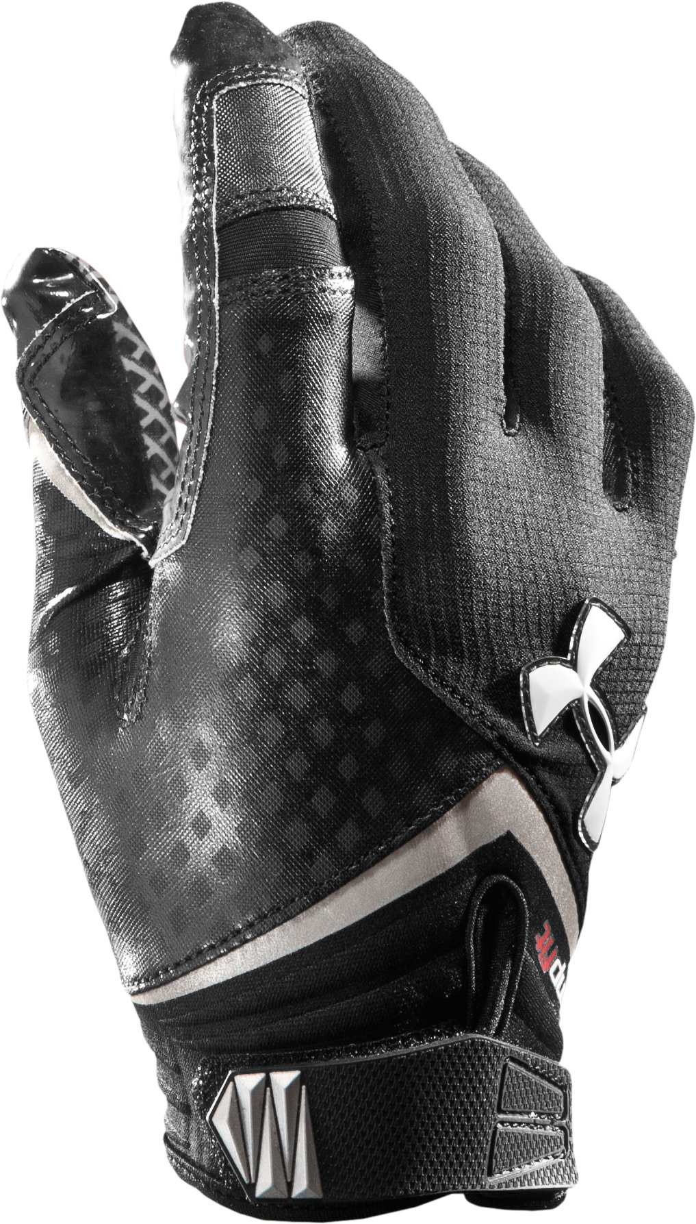 Men's UA Nitro Football Gloves, Black