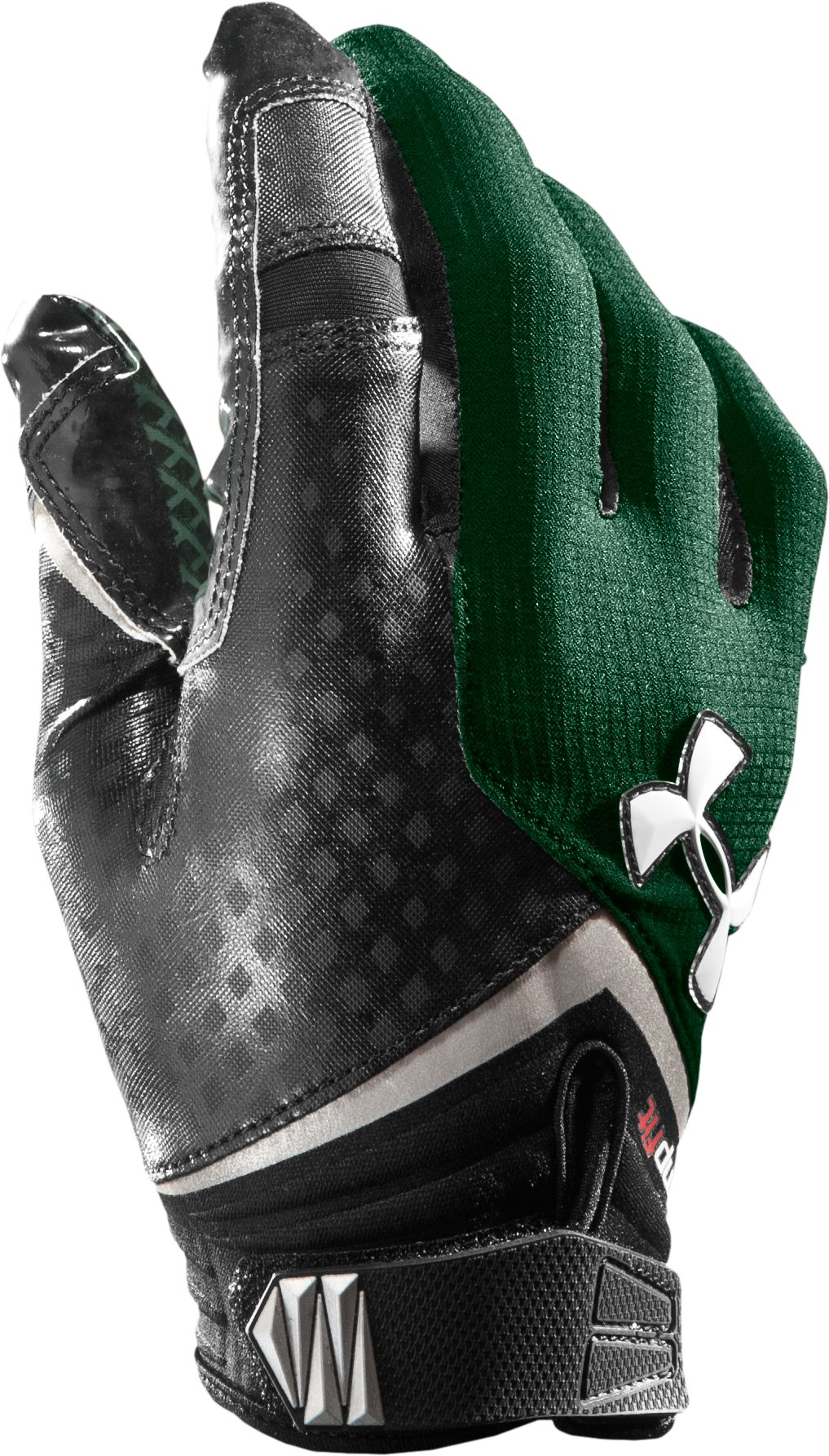 Men's UA Nitro Football Gloves, Forest Green, zoomed image