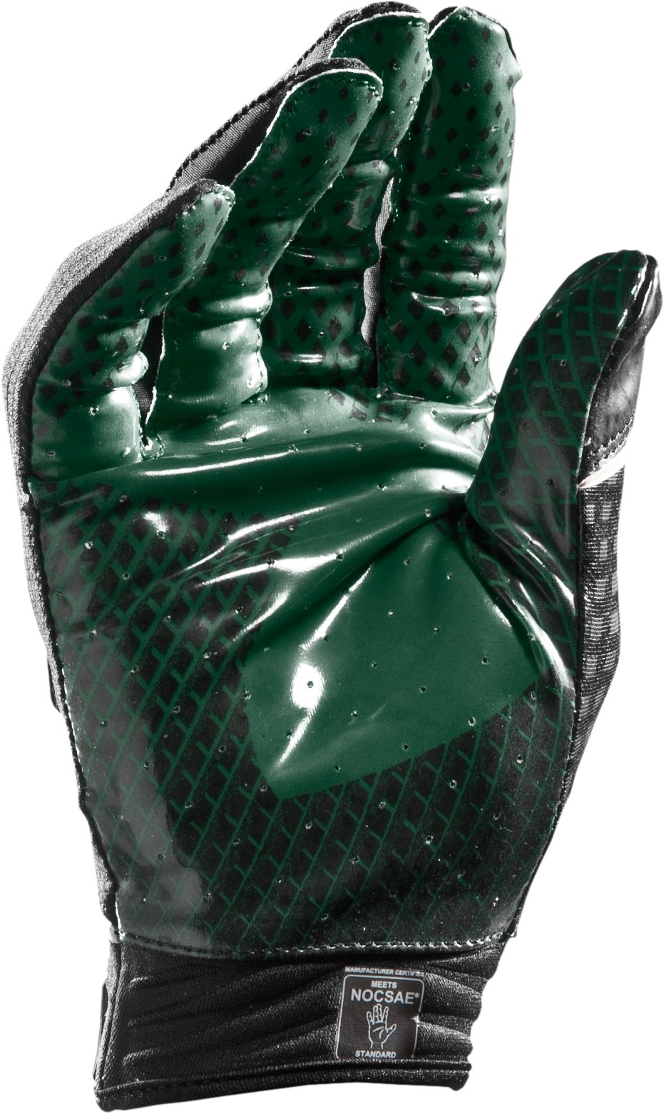 Men's UA Nitro Football Gloves, Forest Green