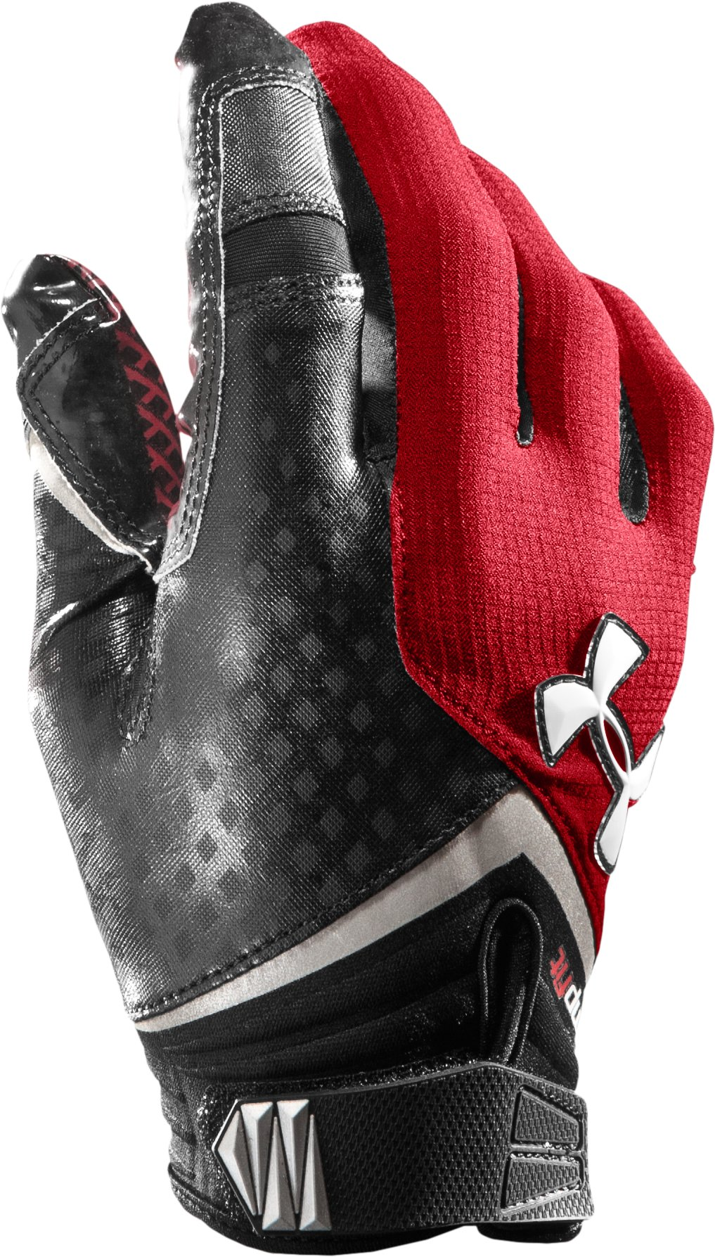 Men's UA Nitro Football Gloves, Red, zoomed image