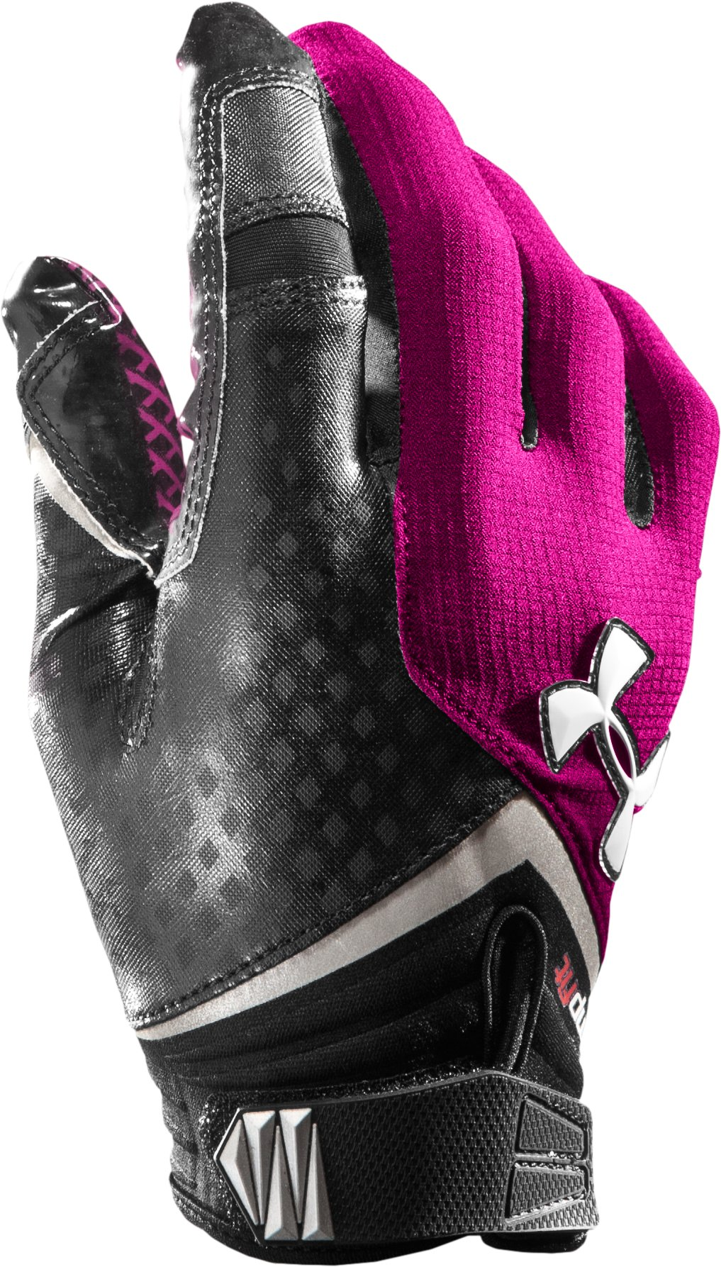 Men's UA Nitro Football Gloves, Tropic Pink, zoomed image