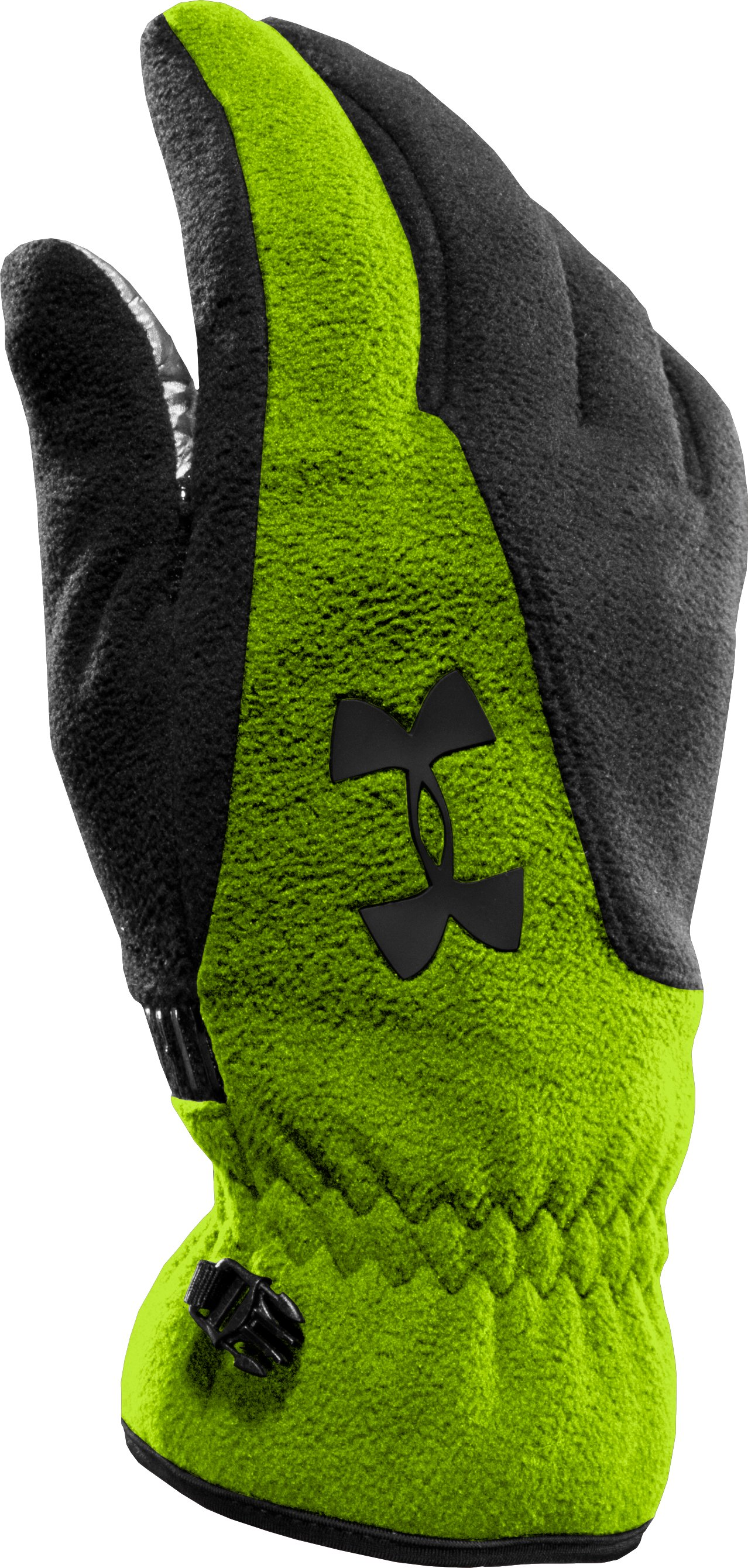 Men's ColdGear® Infrared Storm Convex Gloves, HYPER GREEN