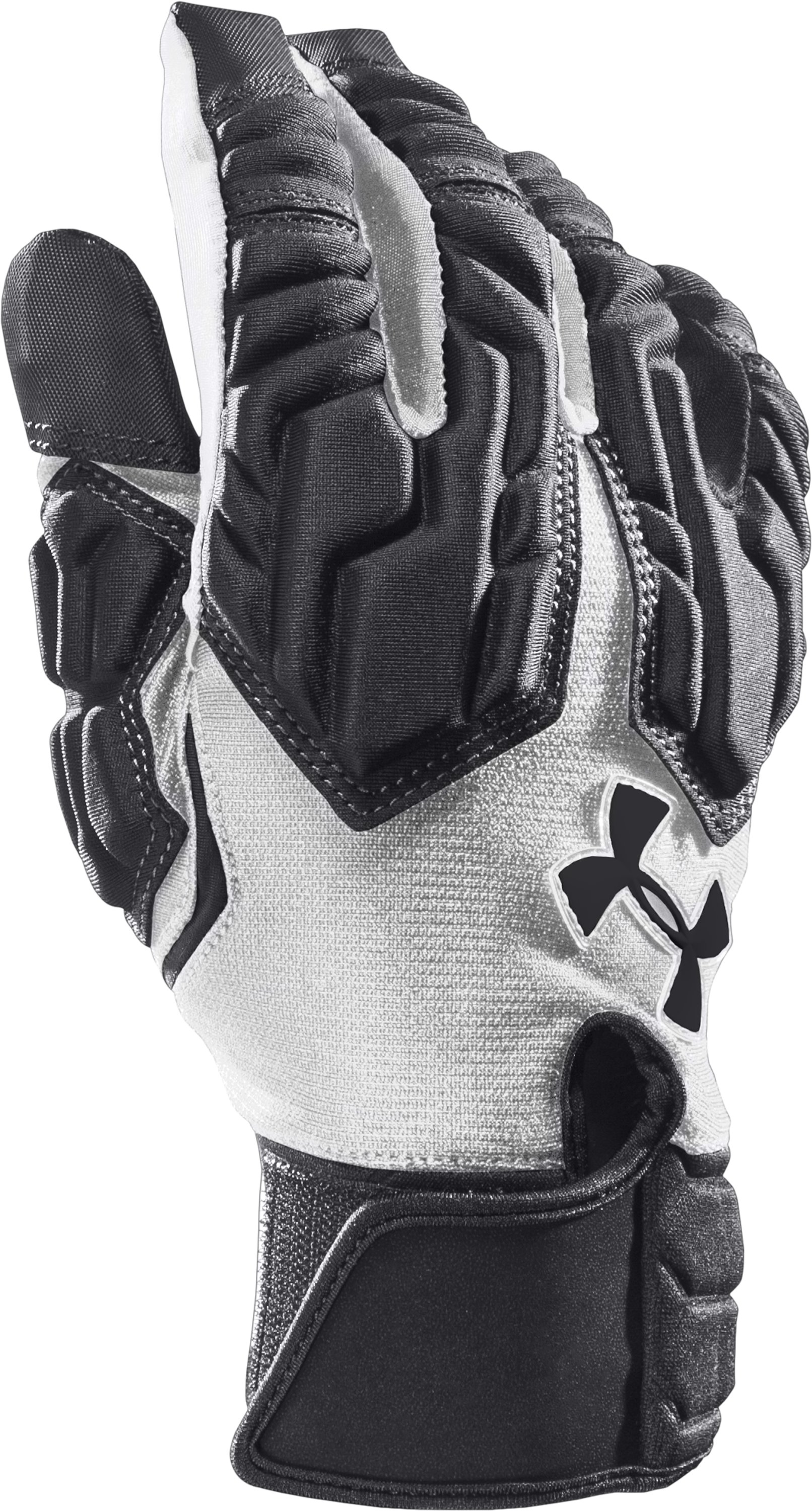 Men's UA Combat III Football Gloves, Black ,