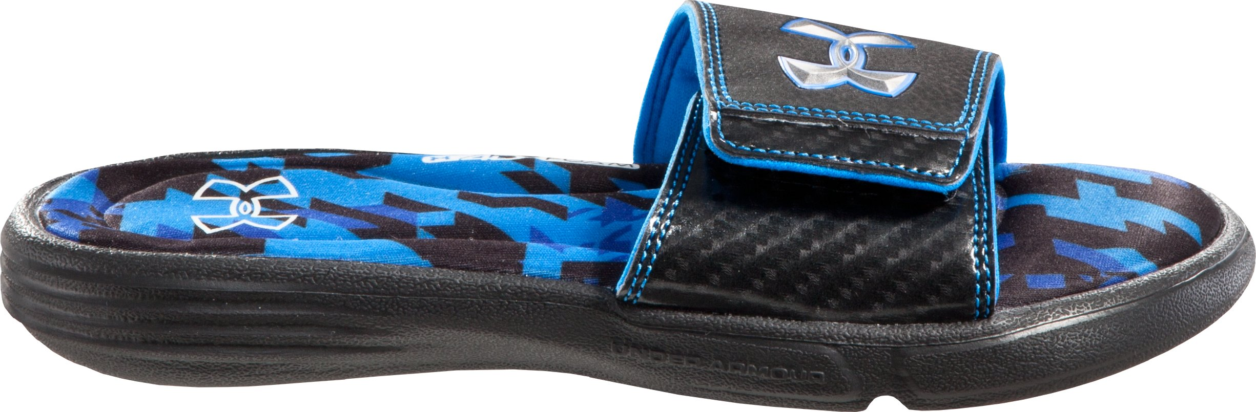 Boys' UA Ignite Illusion II Slides, Black