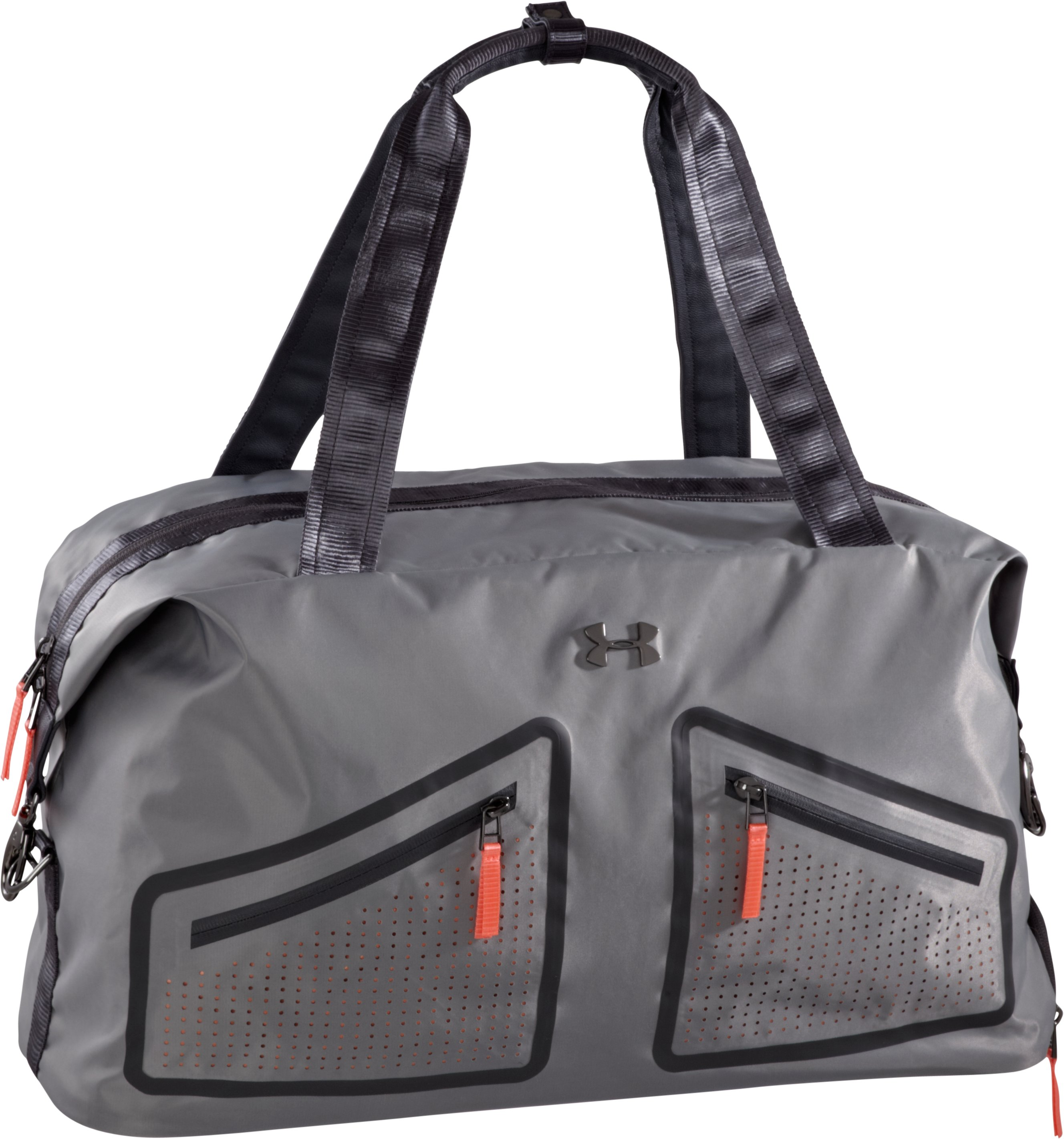 Women's UA Perfect Duffle Bag, Metallic Pewter, zoomed image
