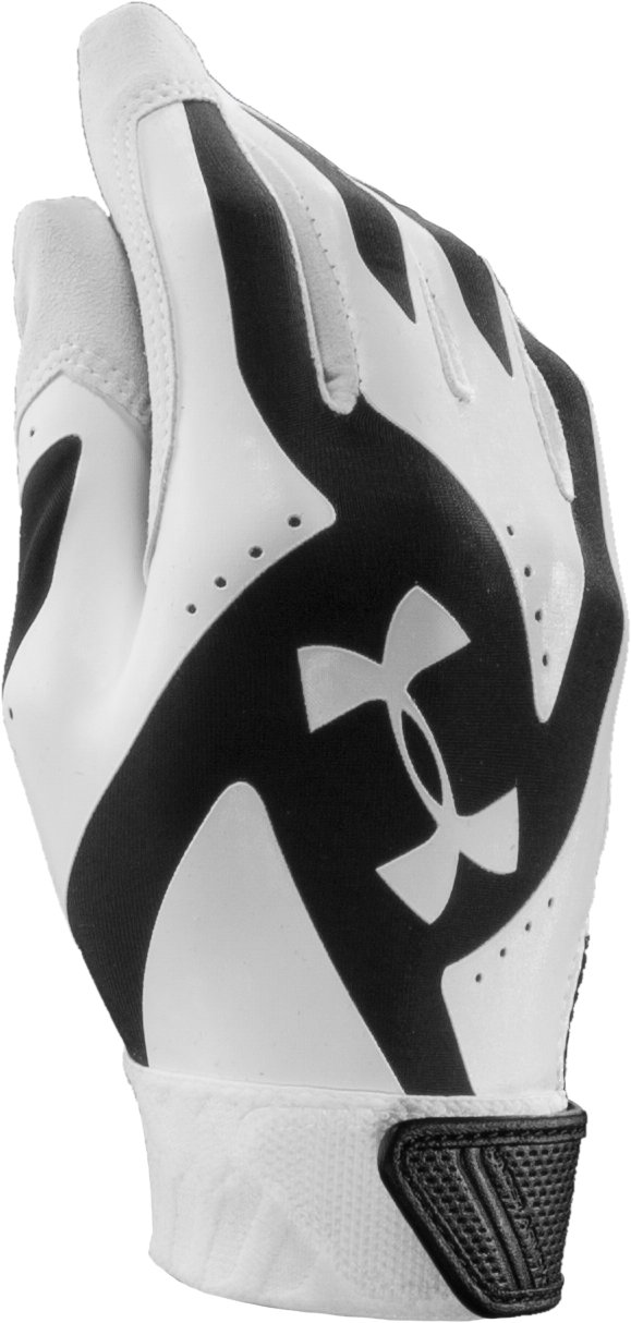 Women's UA Motive Fastpitch Batting Glove, Black , zoomed image