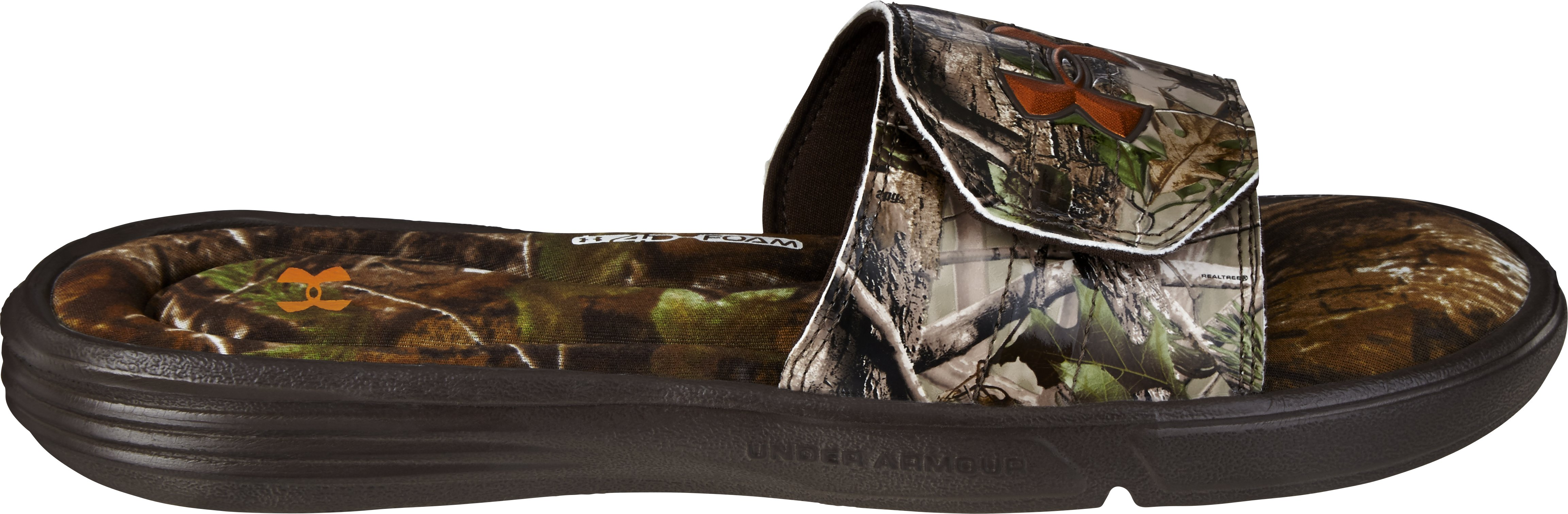 Men's UA Ignite Camo II Slides, Realtree AP, undefined
