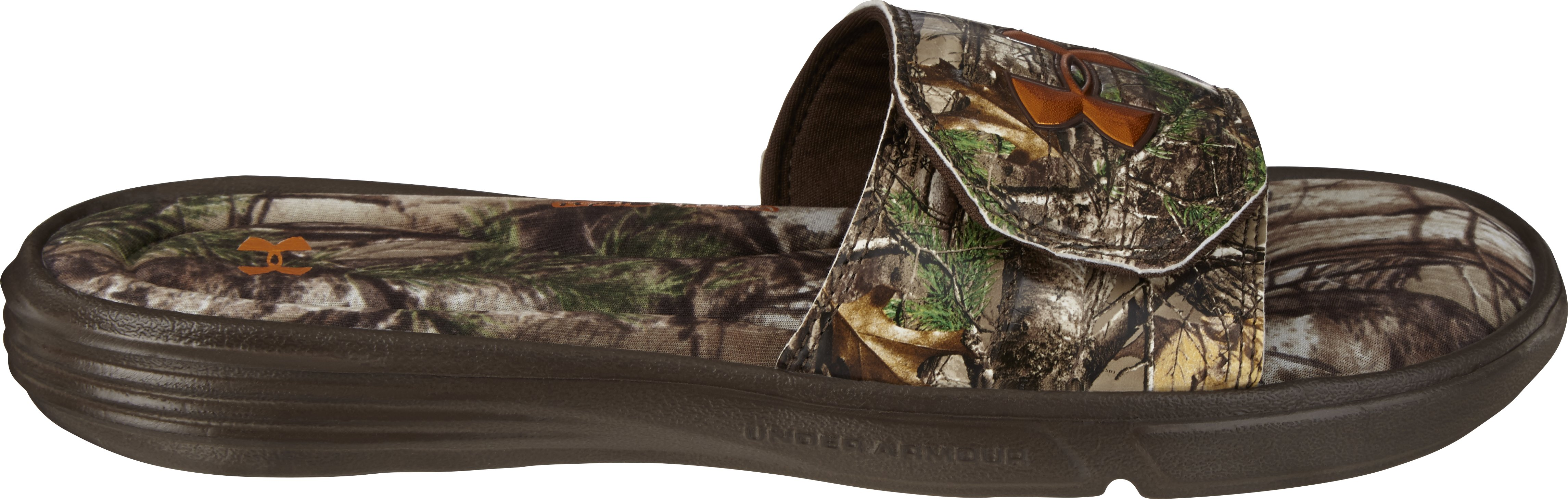 Men's UA Ignite Camo II Slides, REALTREE AP-XTRA