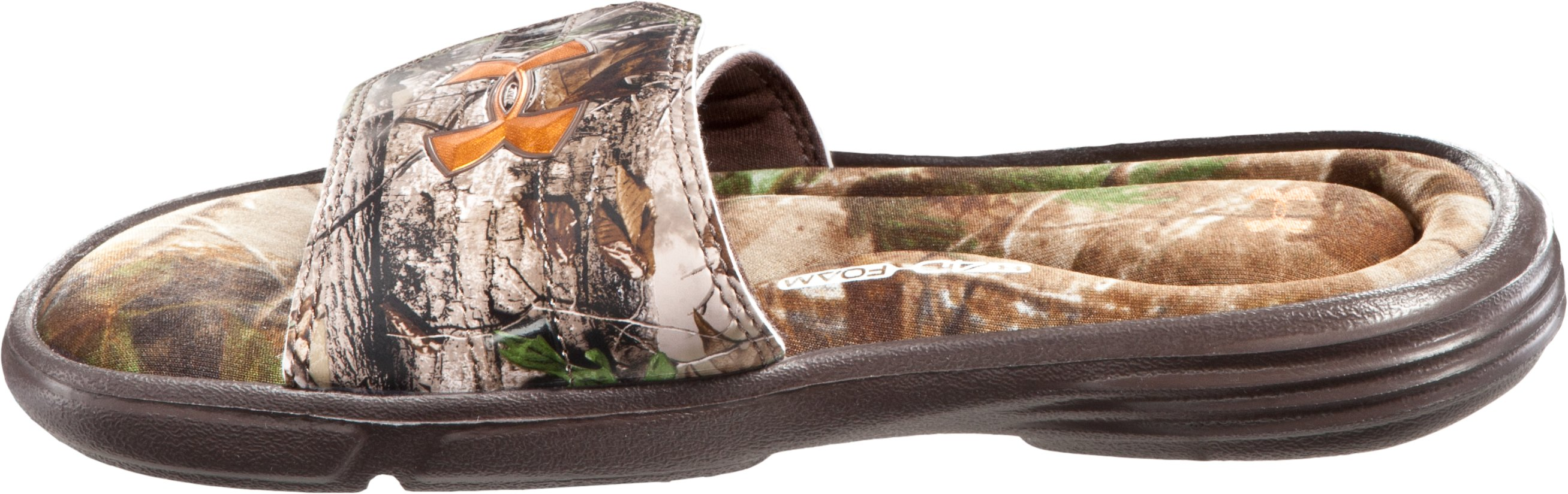 Boys' UA Ignite Camo II Slides, Realtree AP
