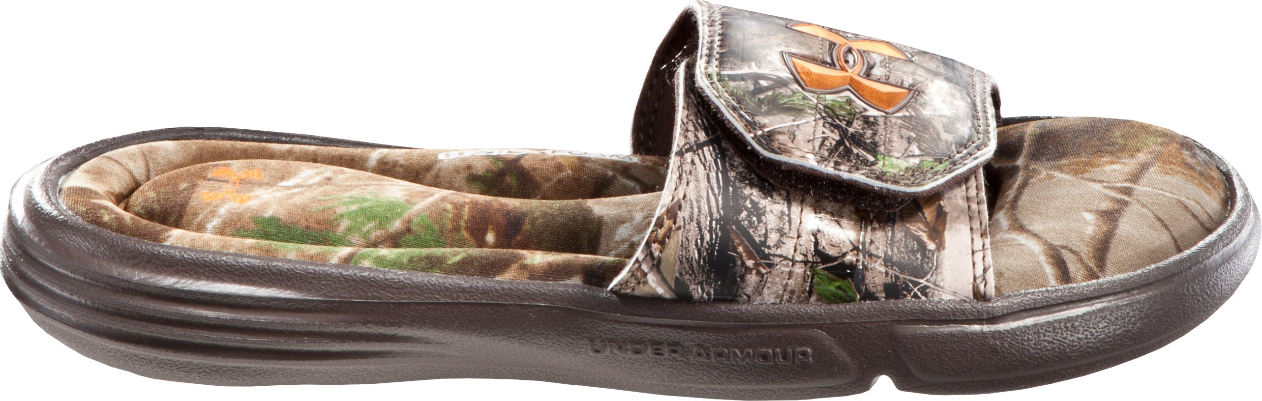 Boys' UA Ignite Camo II Slides, Realtree AP, zoomed image
