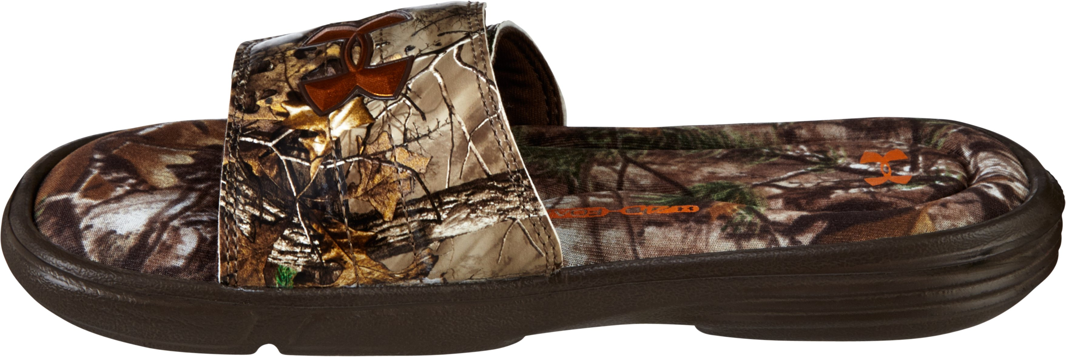 Boys' UA Ignite Camo II Slides, REALTREE AP-XTRA, undefined